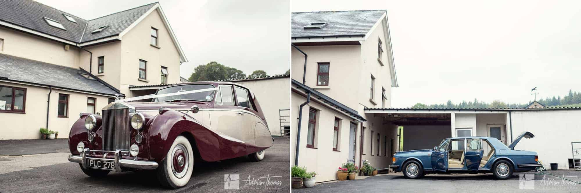 Wedding cars for Bridesmaid and Bride.