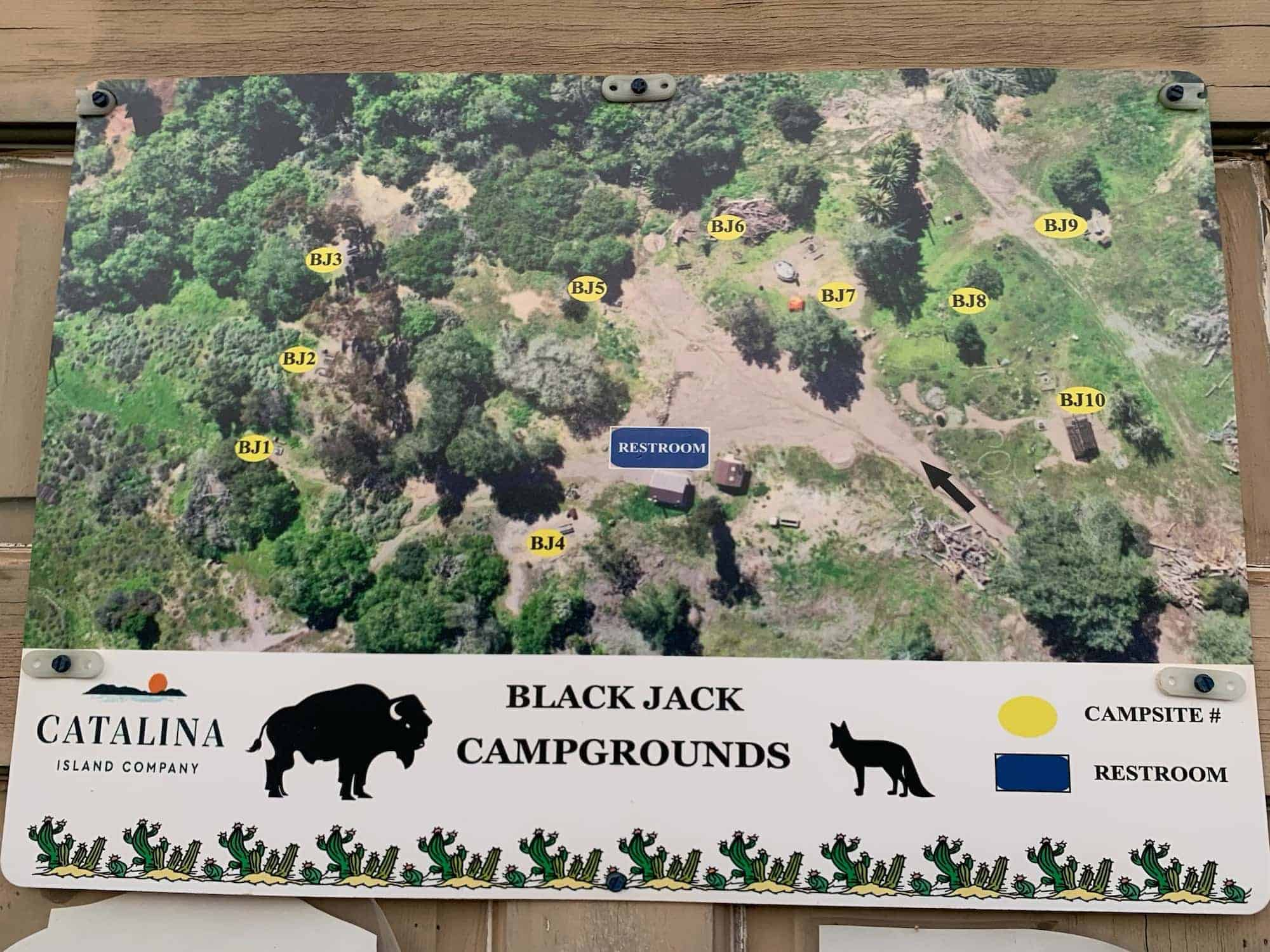 Black Jack Campground Map