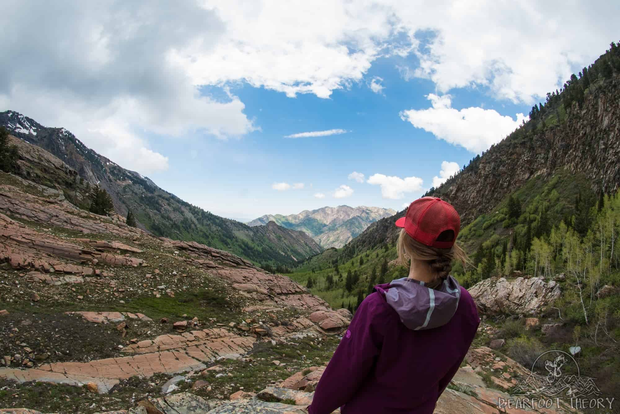 Looking down into Big Cottonwood Canyon from Lake Blanche, Utah