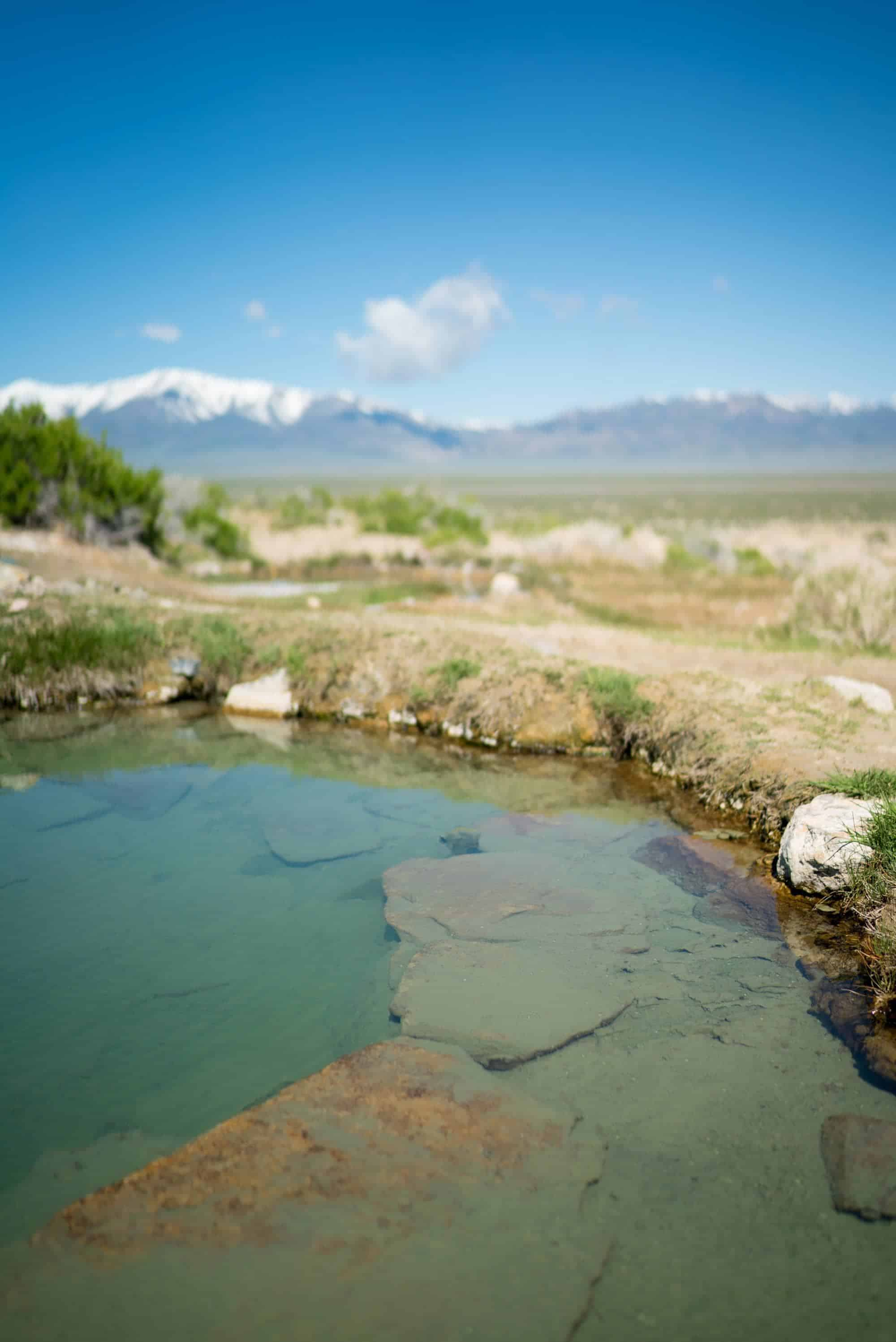 Spencer Hot Springs // Visit 12 of the best Nevada road trip stops, from the top state parks to hot springs, ghost towns & trails where you'll find solitude and amazing landscapes