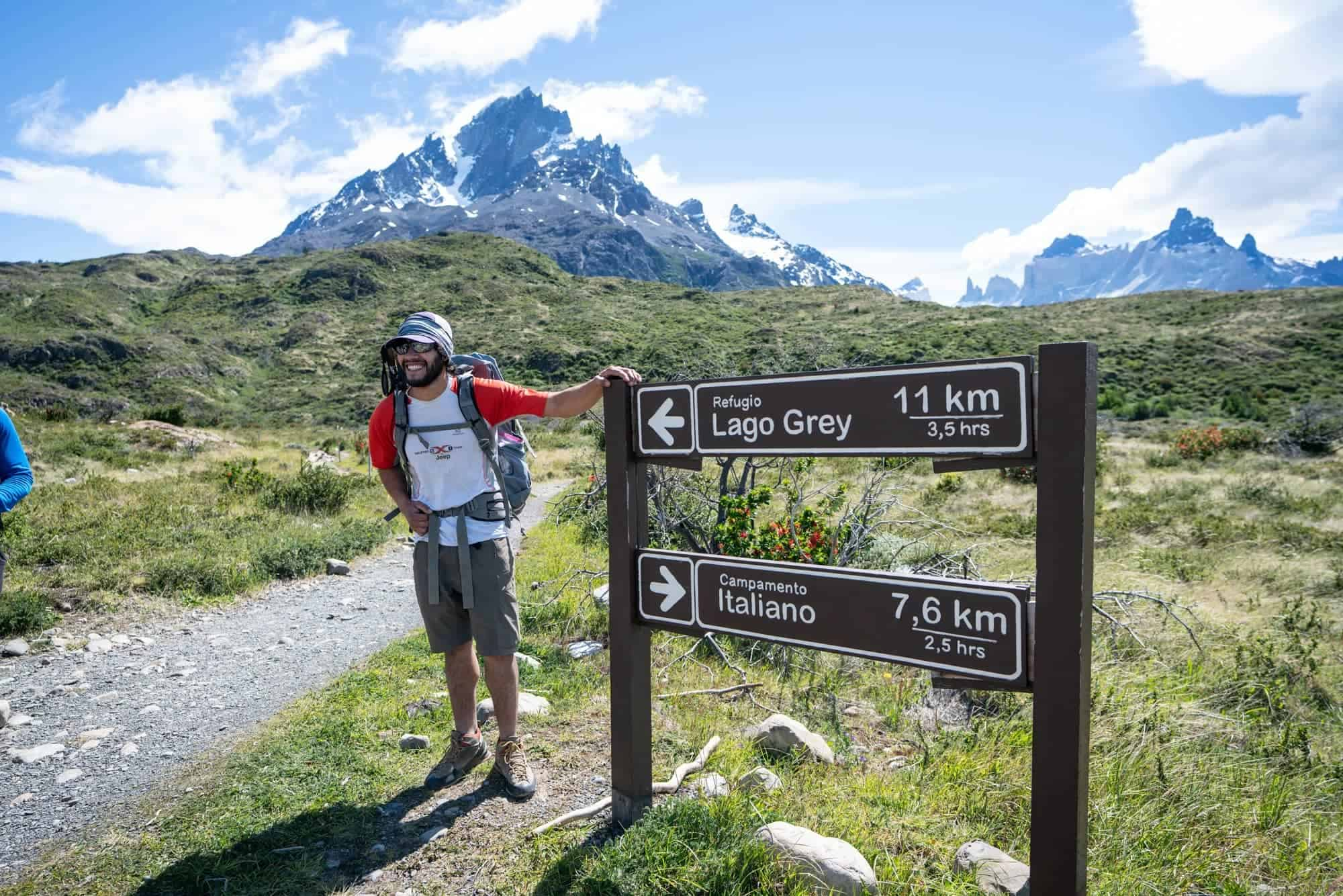 Hiking to Grey Glacier on the W Trek in Torres Del Paine