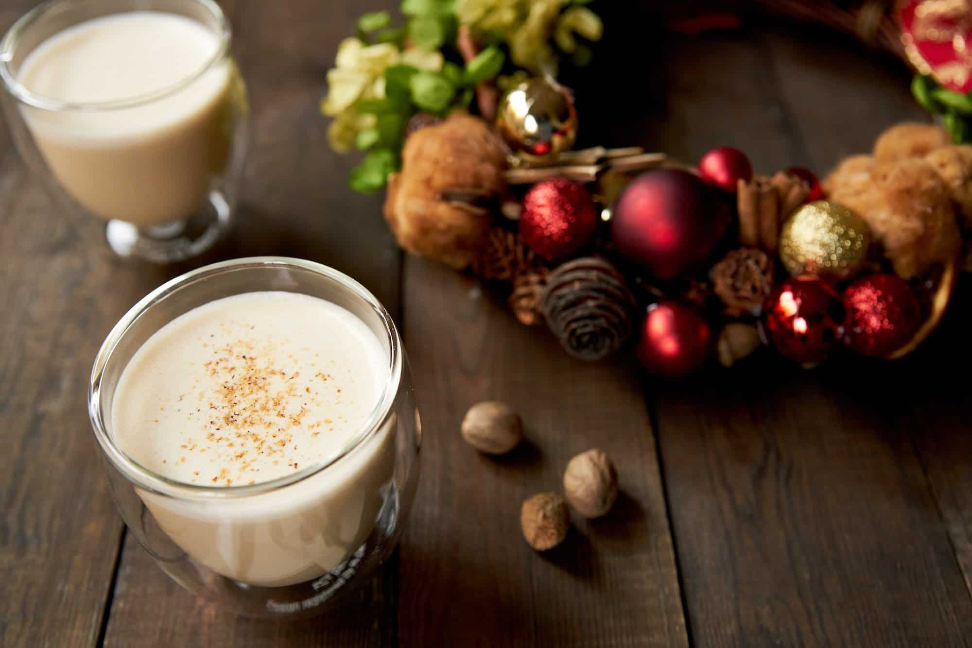 An easy hot eggnog that will warm you up from the inside out.