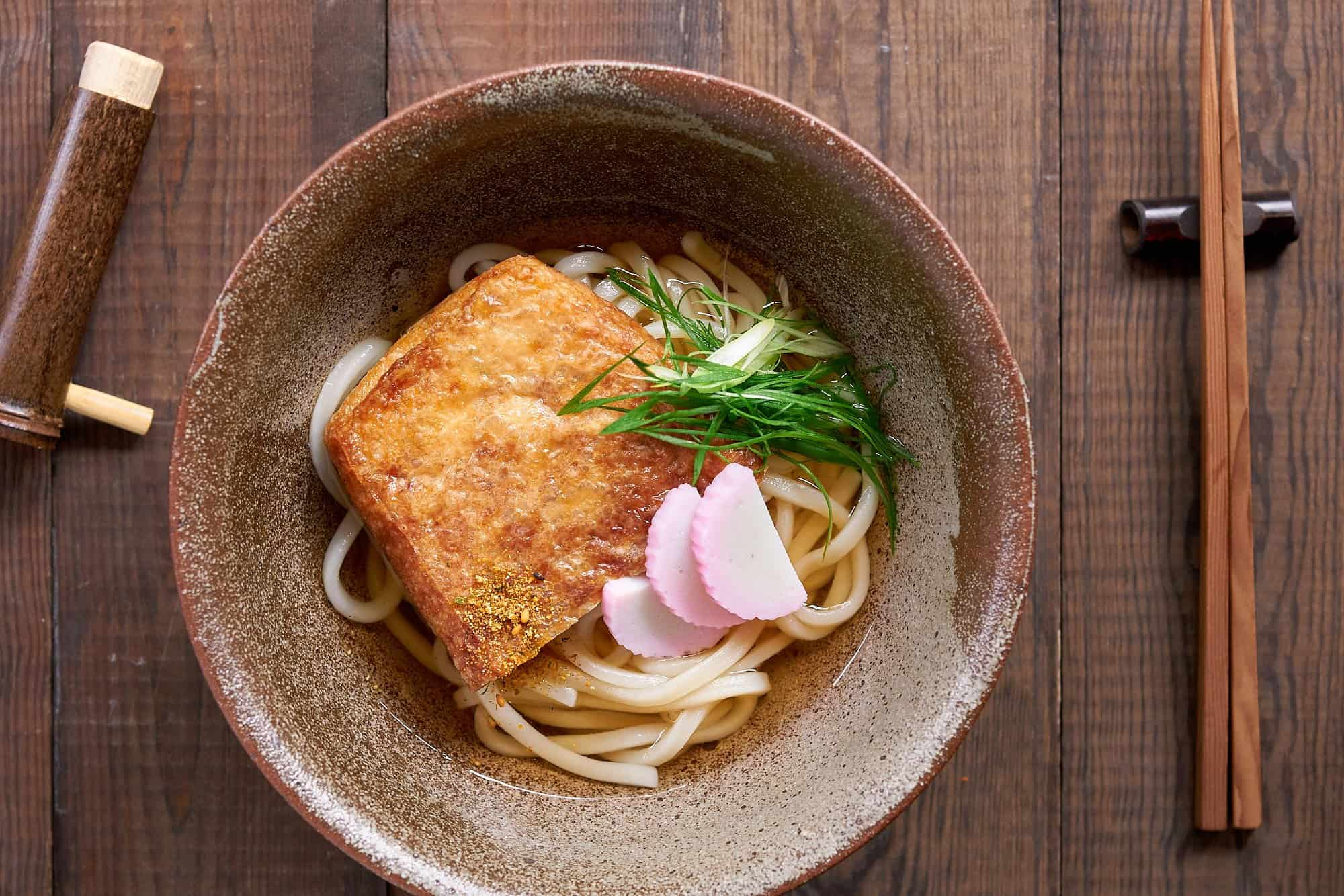 Kitsune udon is Japanese comfort food at it's best. Flavorful and satisfying and yet it's neither rich nor cloying.