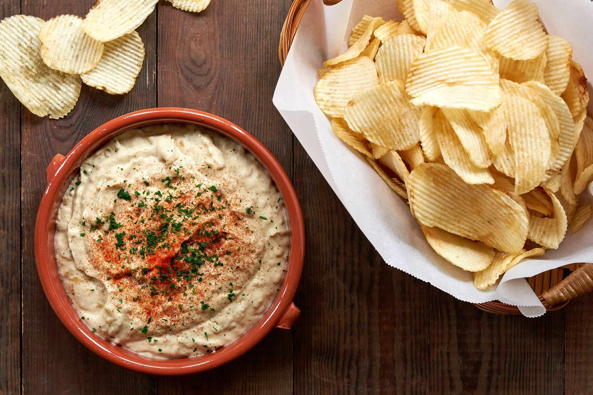 A few culinary trick turn some basic ingredients into this ultra-creamy and flavorful plant-based French onion dip.