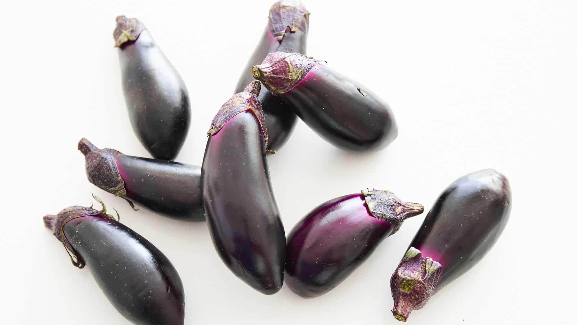 Whole eggplant for Mutabbal