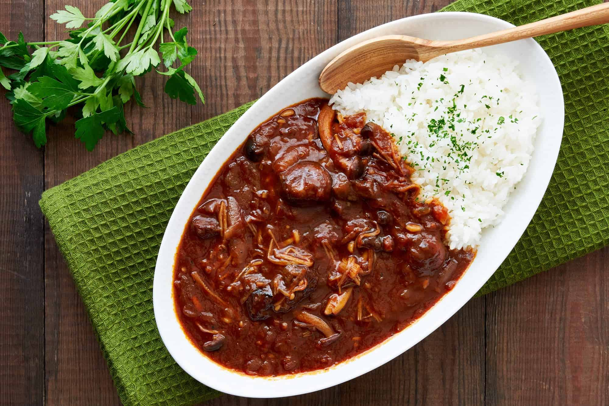 Hayashi Rice is a classic beef stew that's mildly sweet and savory, making it a family favorite in Japan.