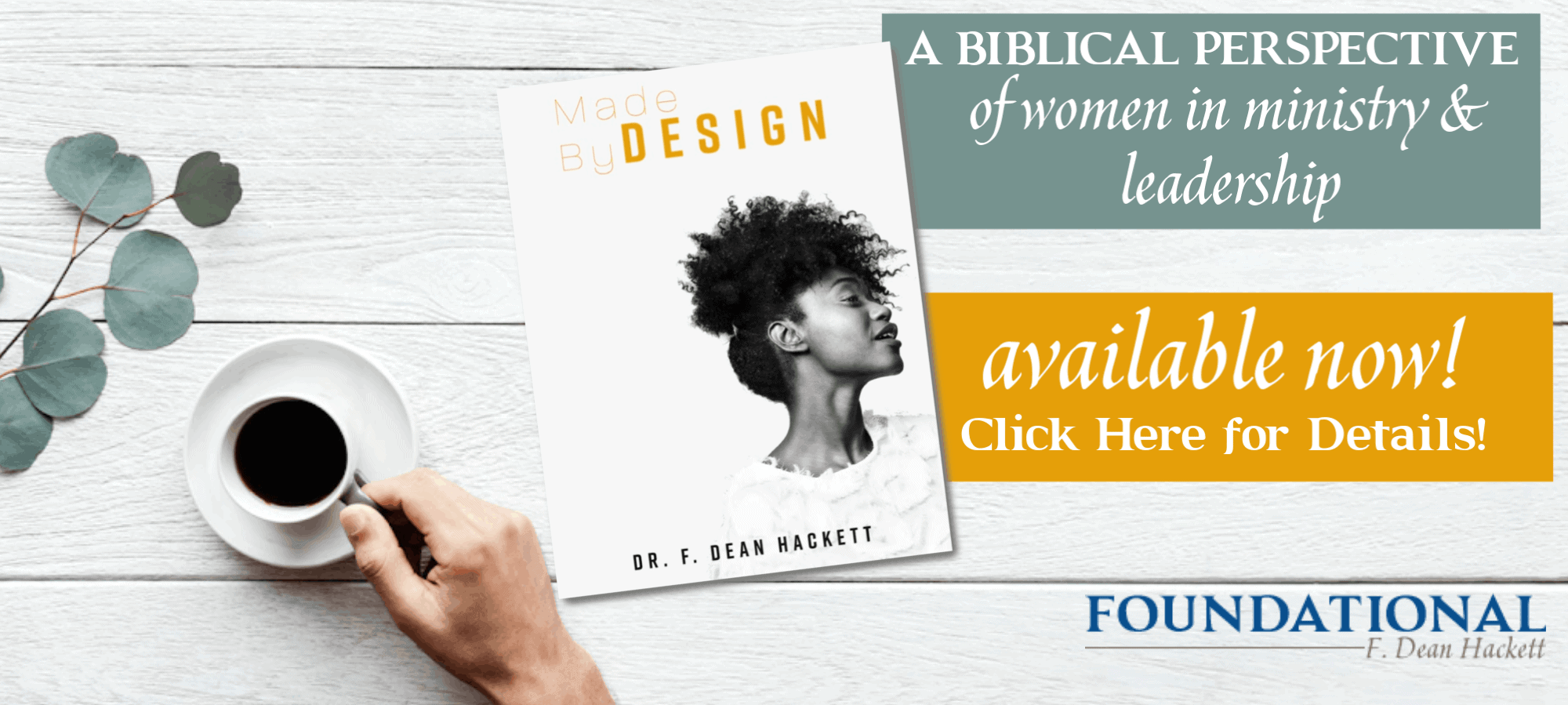In Made by Design, Dr. Hackett uses biblical text to show how Jesus chose to destroy societal norms to honor women in His day and how His example, both supported what the Bible, as a whole, says about women and gave women a valuable role in kingdom work. #foundational #women #ministry #leadership #books #bible
