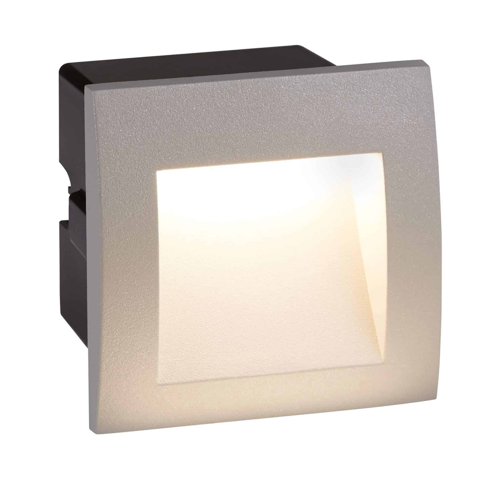 0661GY – Searchlight Ankle Grey LED Indoor/Outdoor Recessed Square
