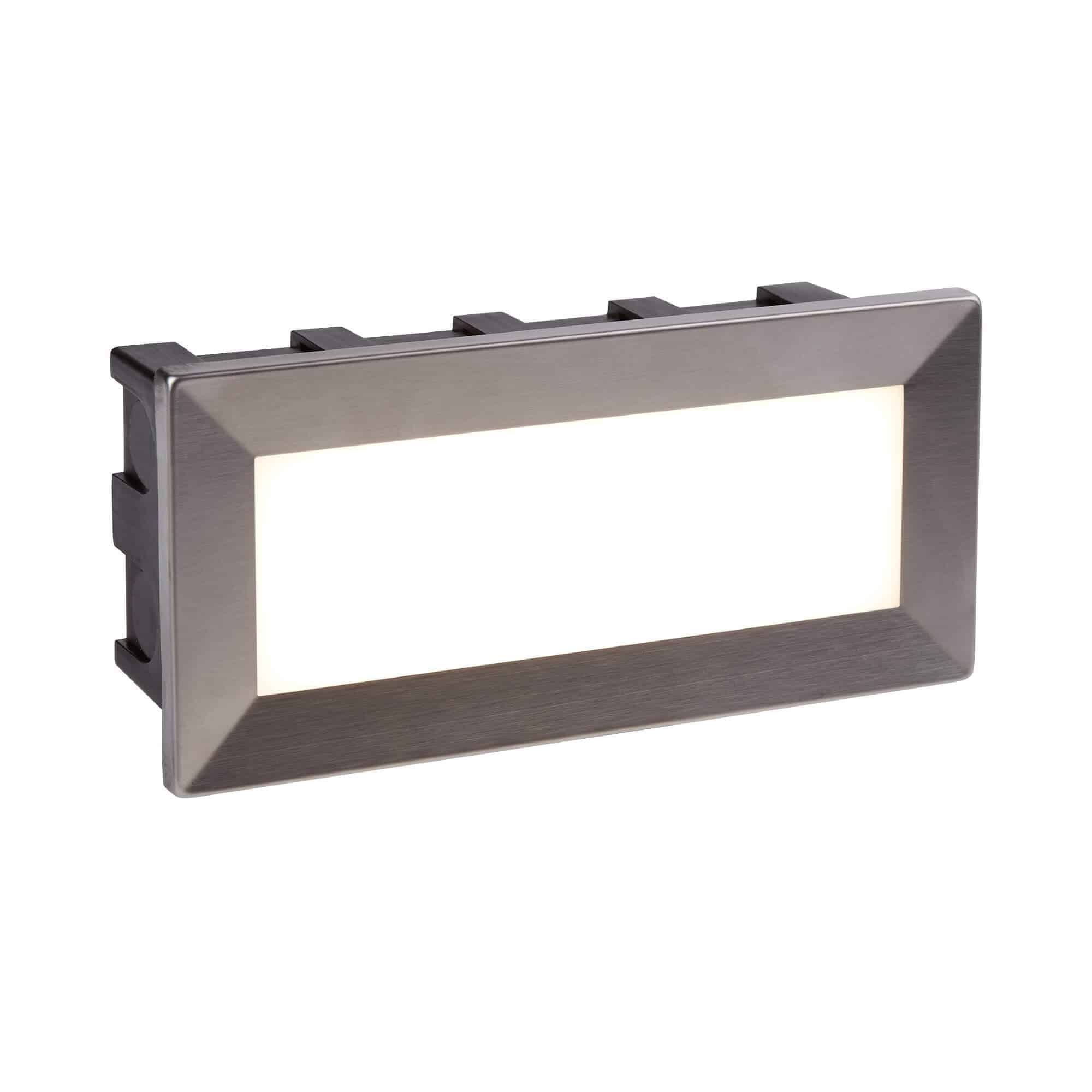762 – Searchlight Ankle Stainless Steel LED Recessed Wall Light