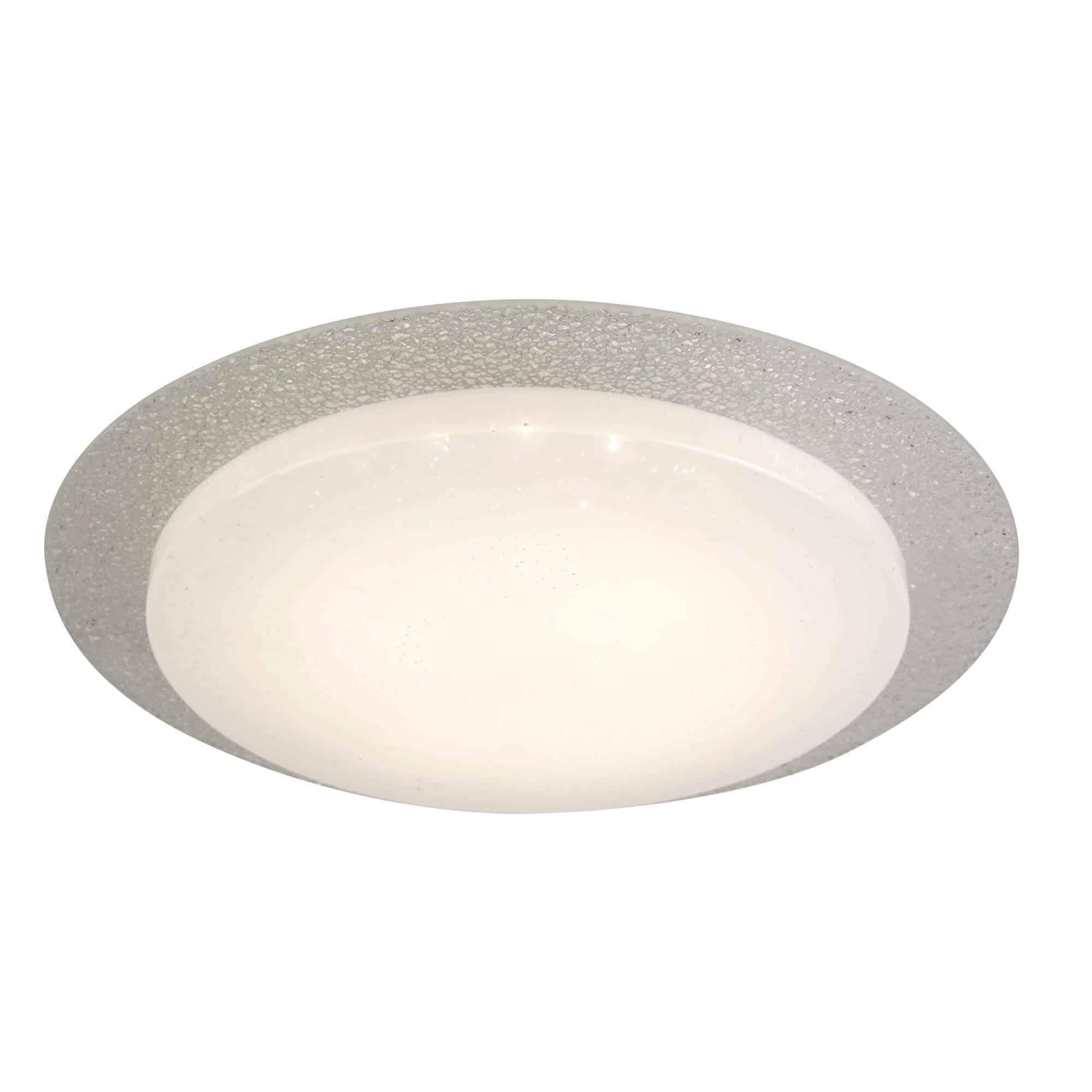 1071-28 – Searchlight Flush 28Cm LED Glass Halo Ring