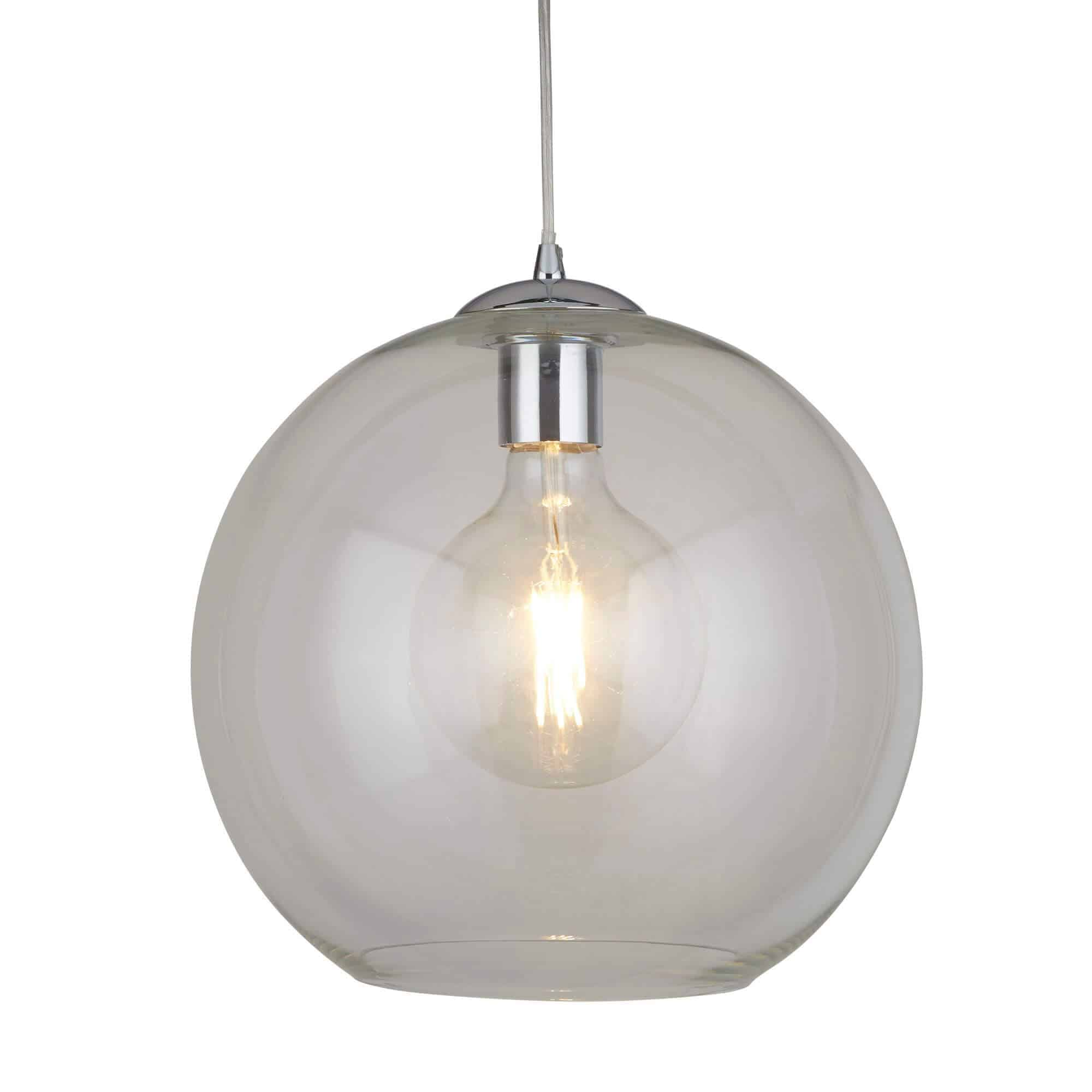 1632CL – Searchlight Balls Clear 1 Light Round Pendant (30Cm Dia)