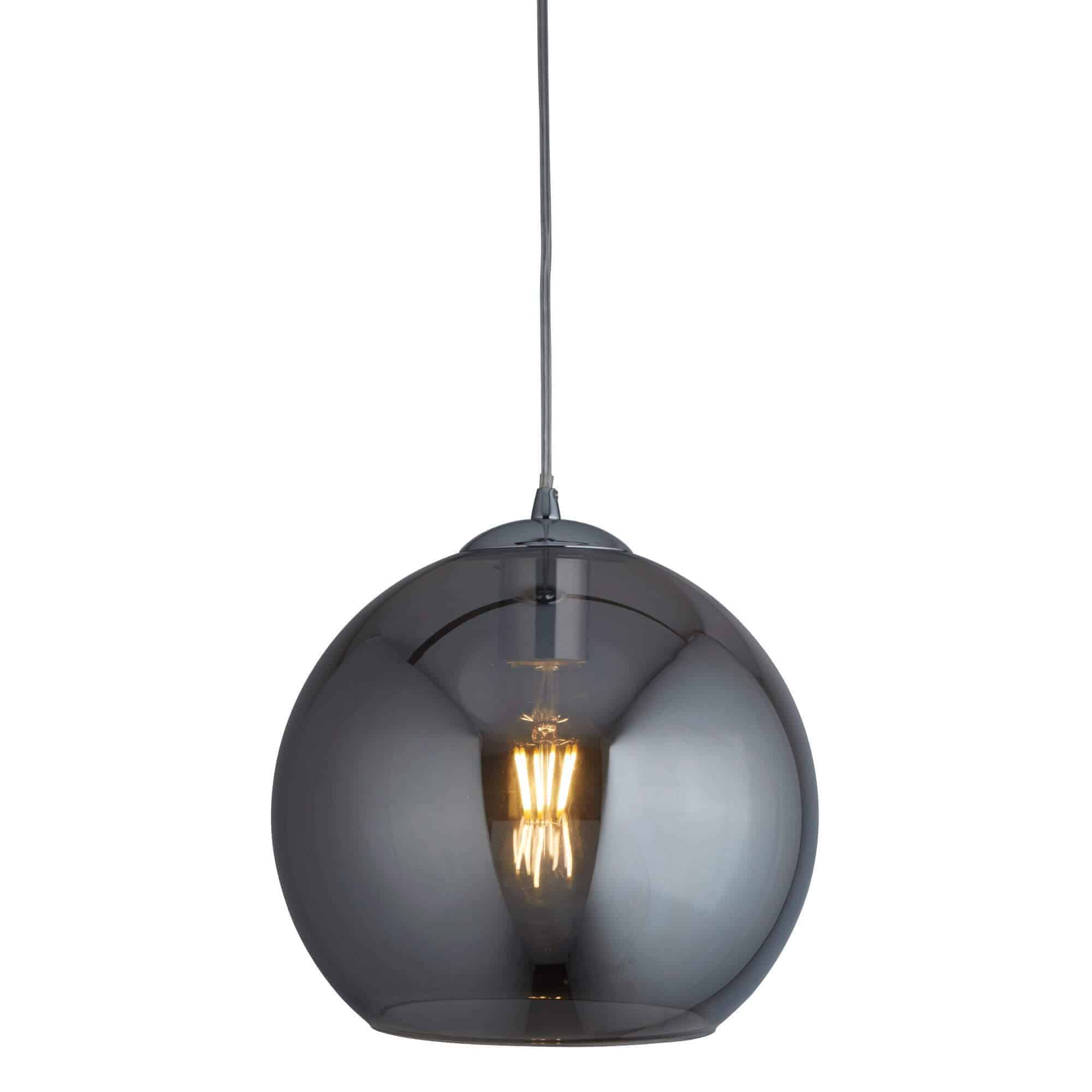 1635SM – Searchlight Balls Smoke 1 Light Round Pendant (35Cm Dia)
