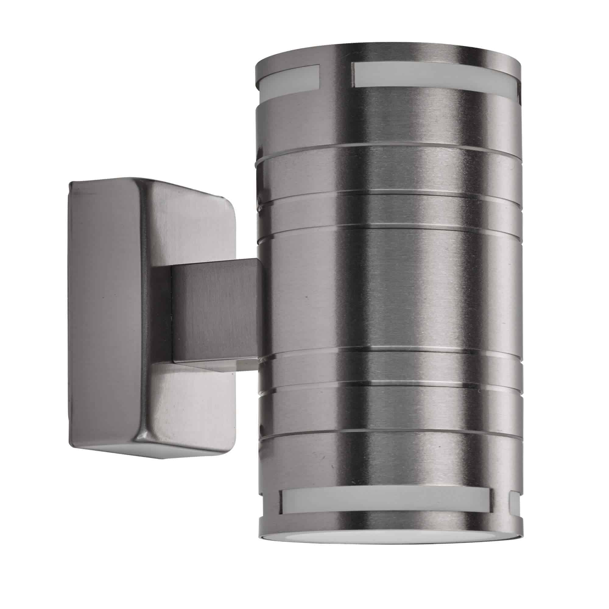 2018-2-LED – Searchlight LED Outdoor & Porch (Gu10 LED) Stainless Steel 2 Light Wall Bracket
