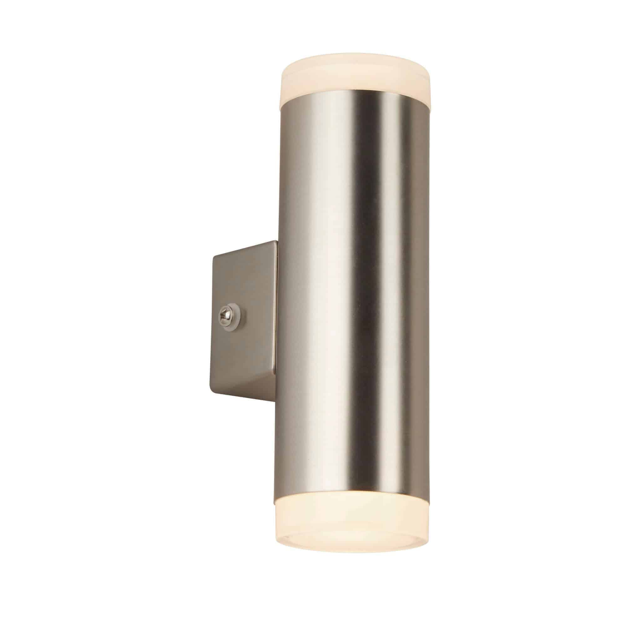 2100SN – Searchlight LED Outdoor Satin Silver 2 Light & Porch Wall Light