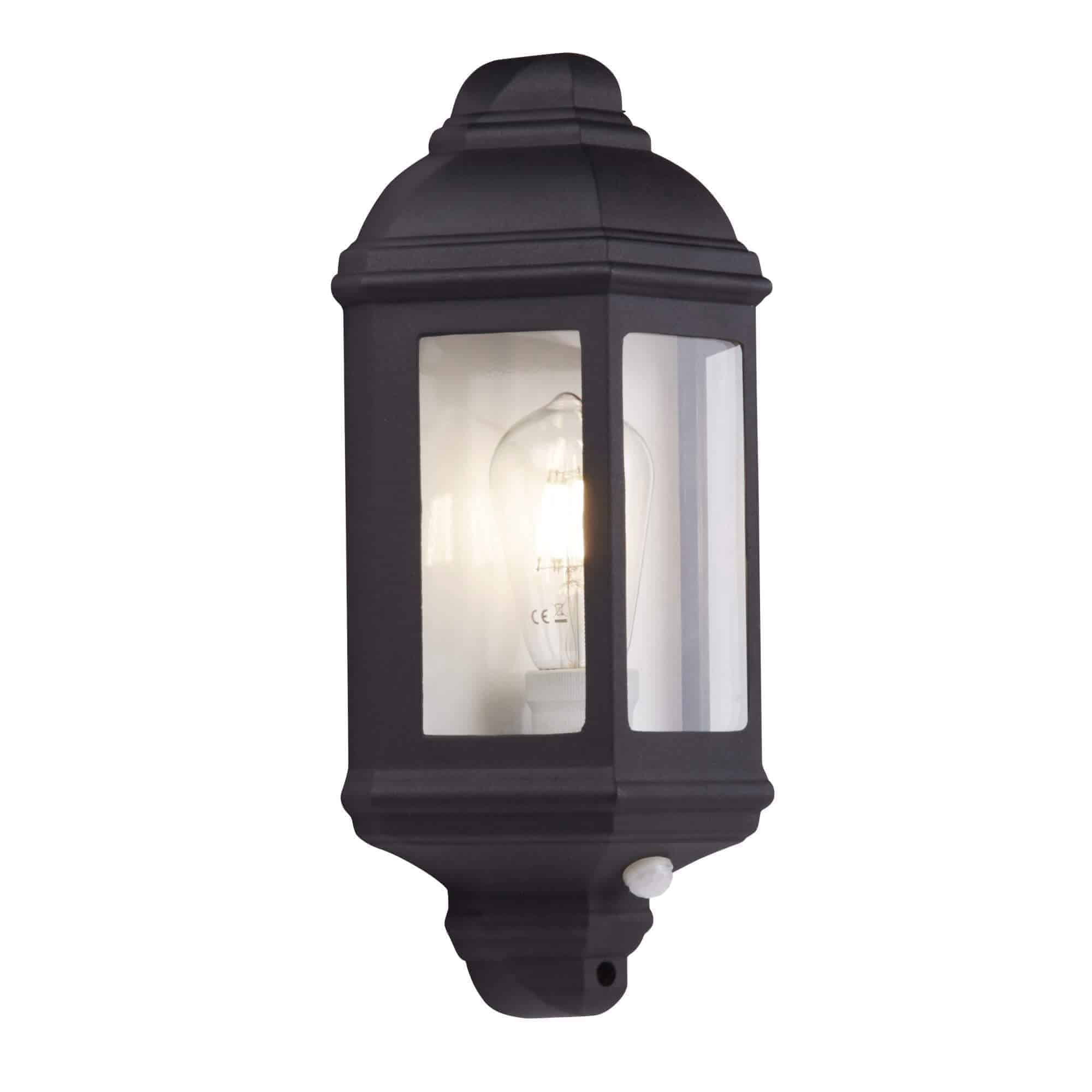 280BK-PIR – Searchlight Outdoor & Porch Wall Light Black Flush IP44