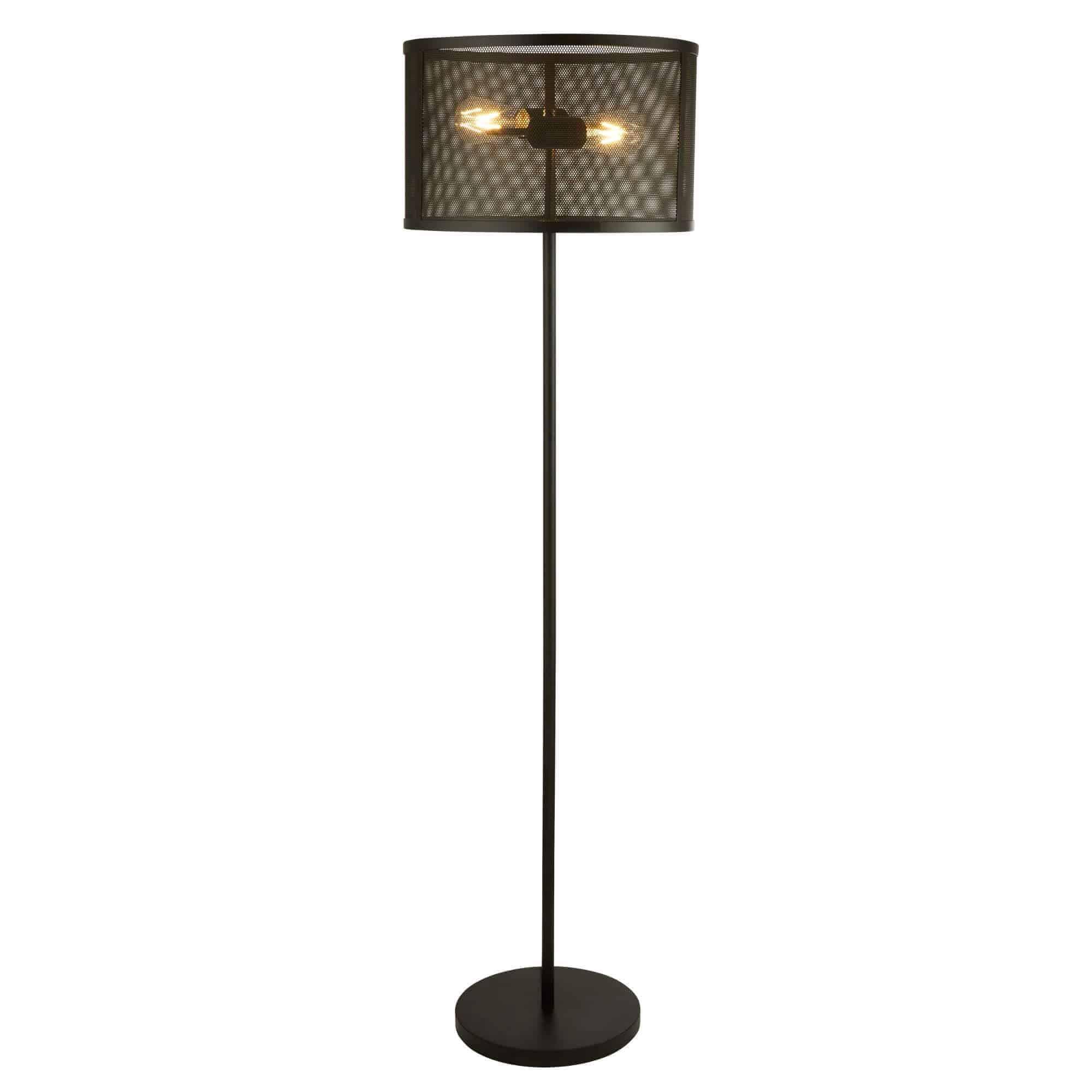 2832-2BK – Searchlight Fishnet Matt Black 2 Light Floor Lamp