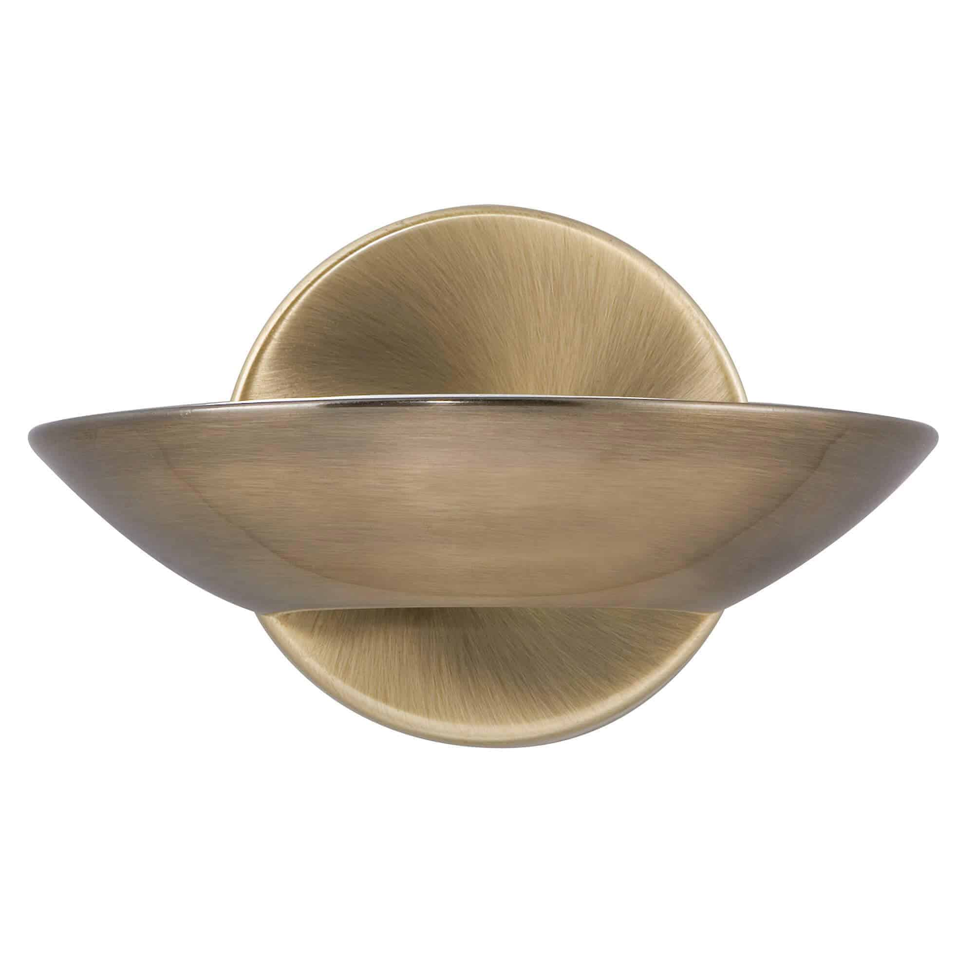 3209AB – Searchlight Antique Brass Wall Bracket LED Uplight
