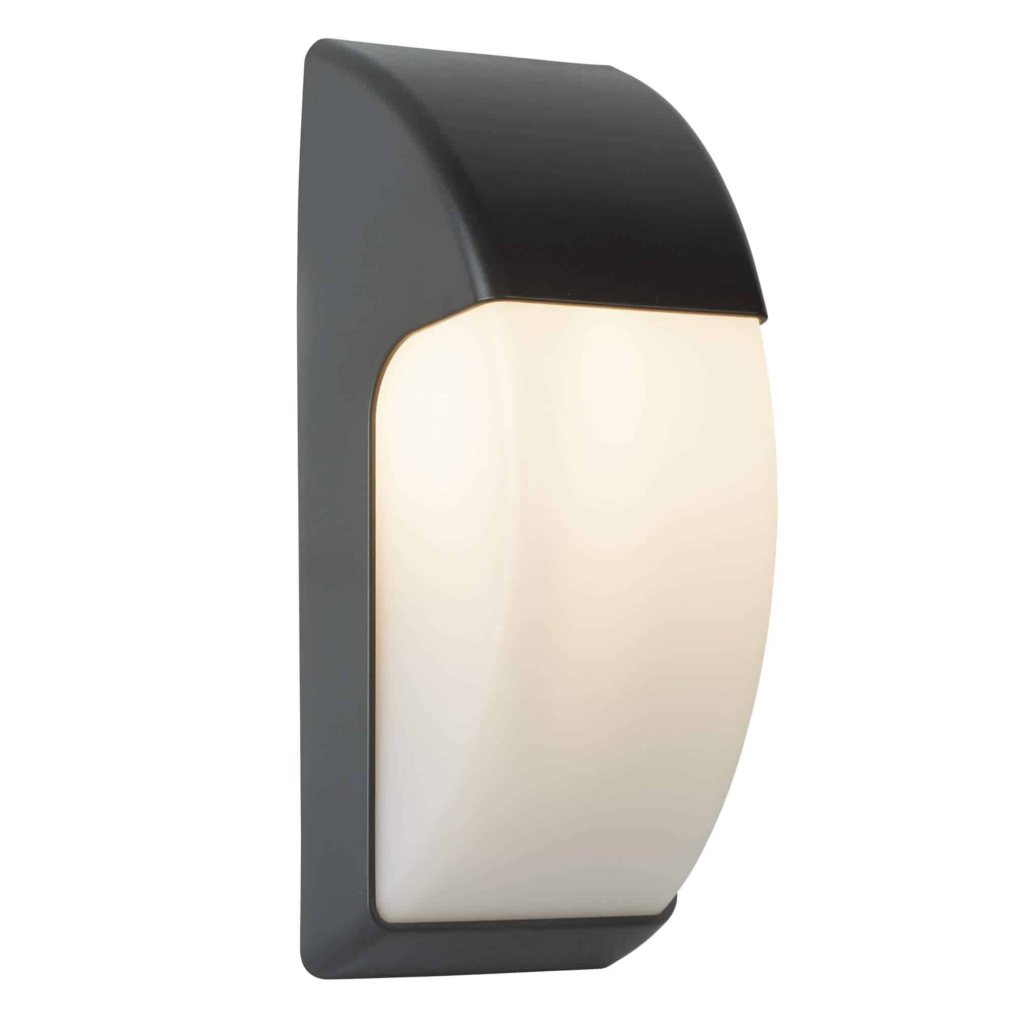 3231GY – Searchlight LED Outdoor Dark Grey 1 Light Crescent Wall Light