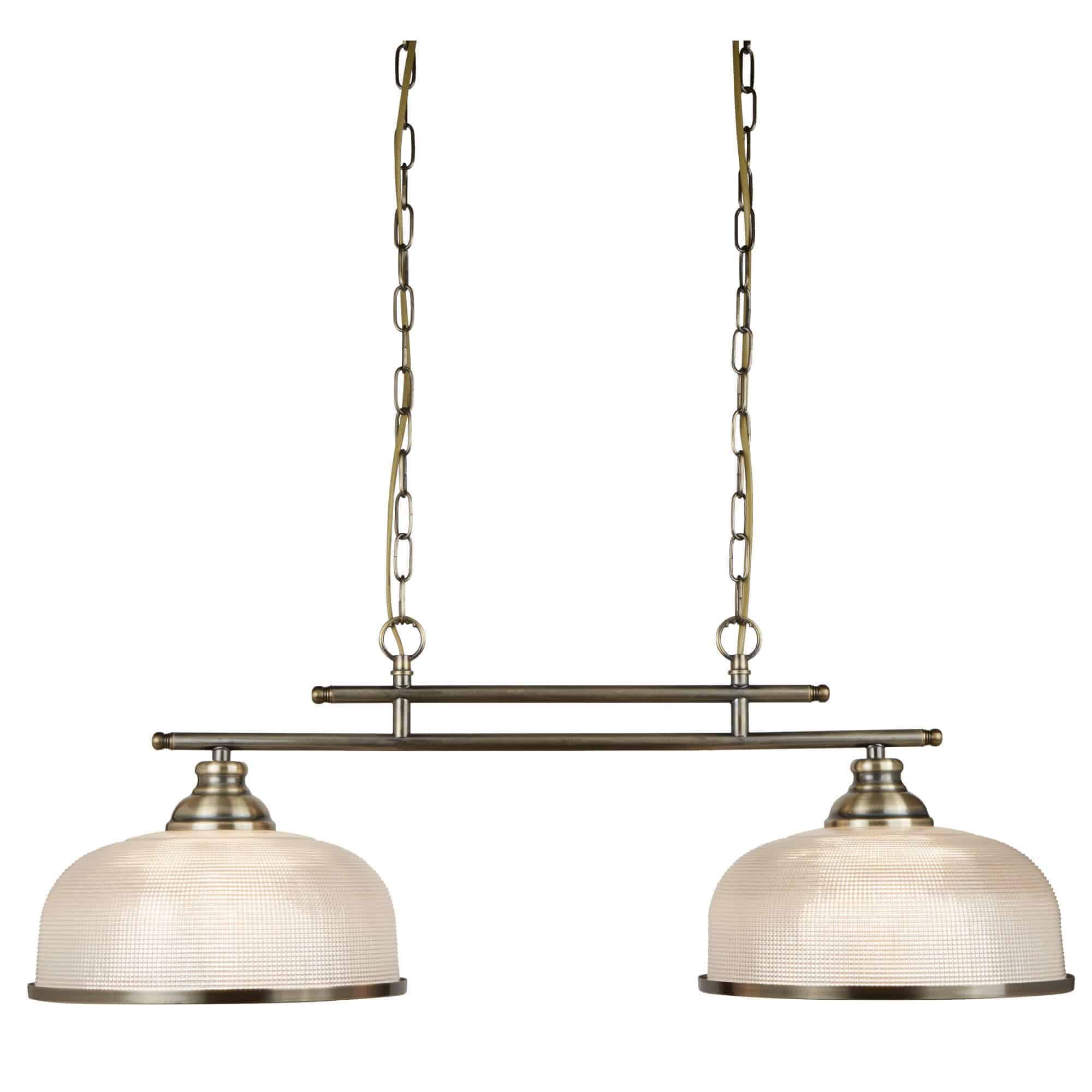 3592-2AB – Searchlight Bistro ii  Antique Brass 2 Light Ceiling Bar