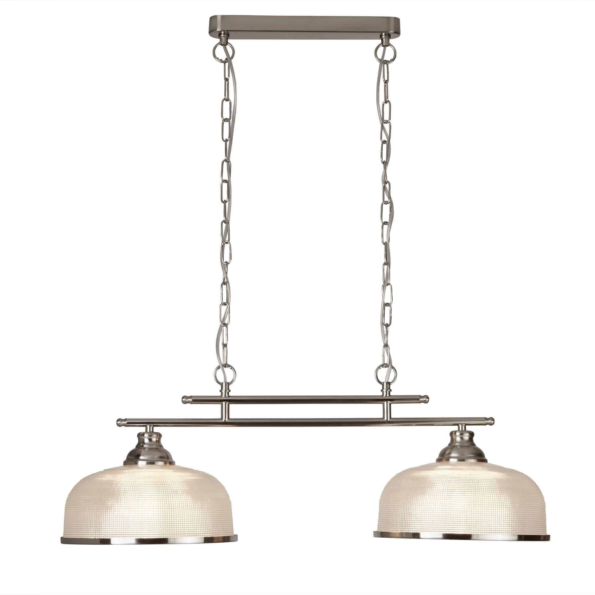 3592-2SS – Searchlight Bistro ii Satin Silver 2 Light Ceiling Bar