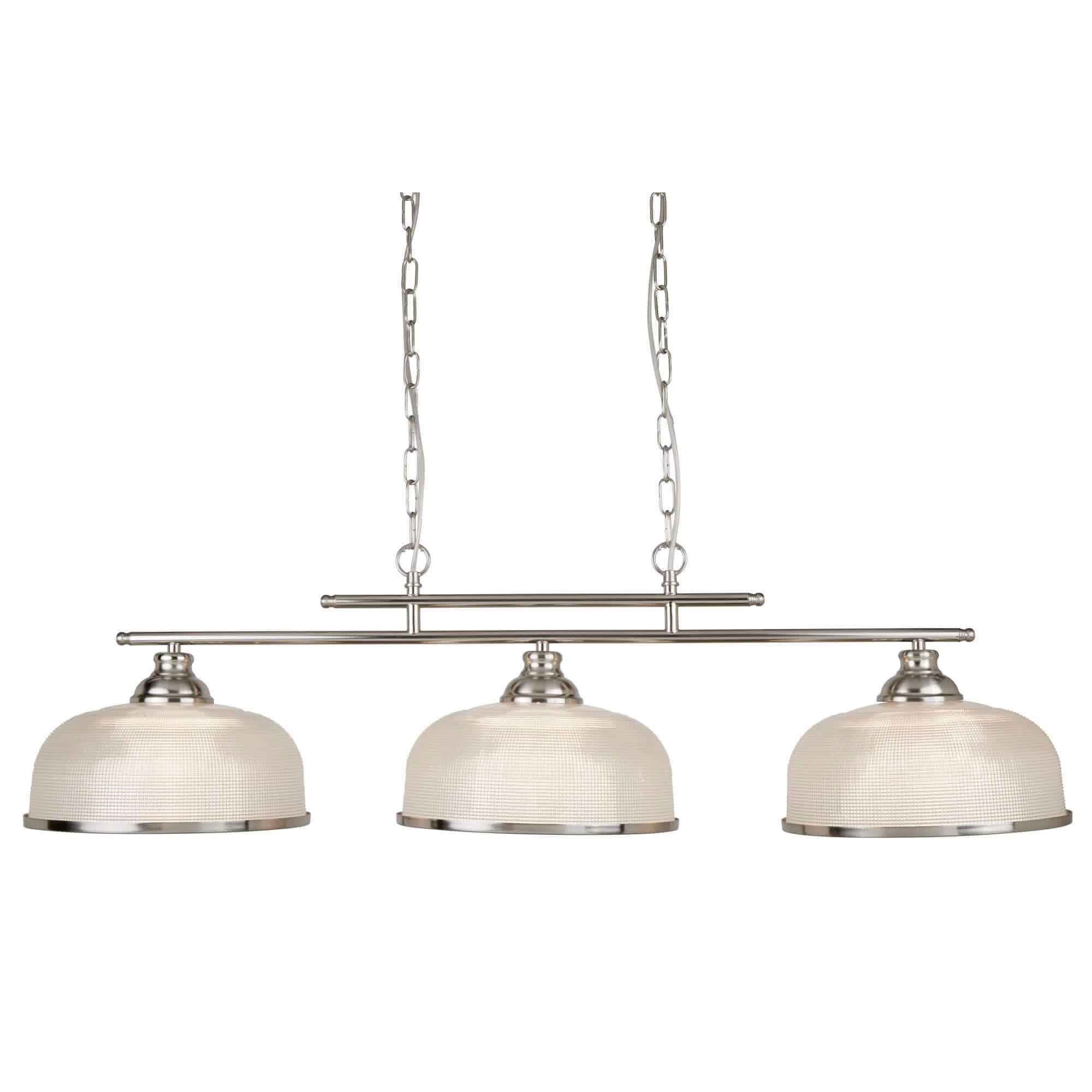 3593-3SS – Searchlight Bistro ii Satin Silver3 Light Ceiling Bar
