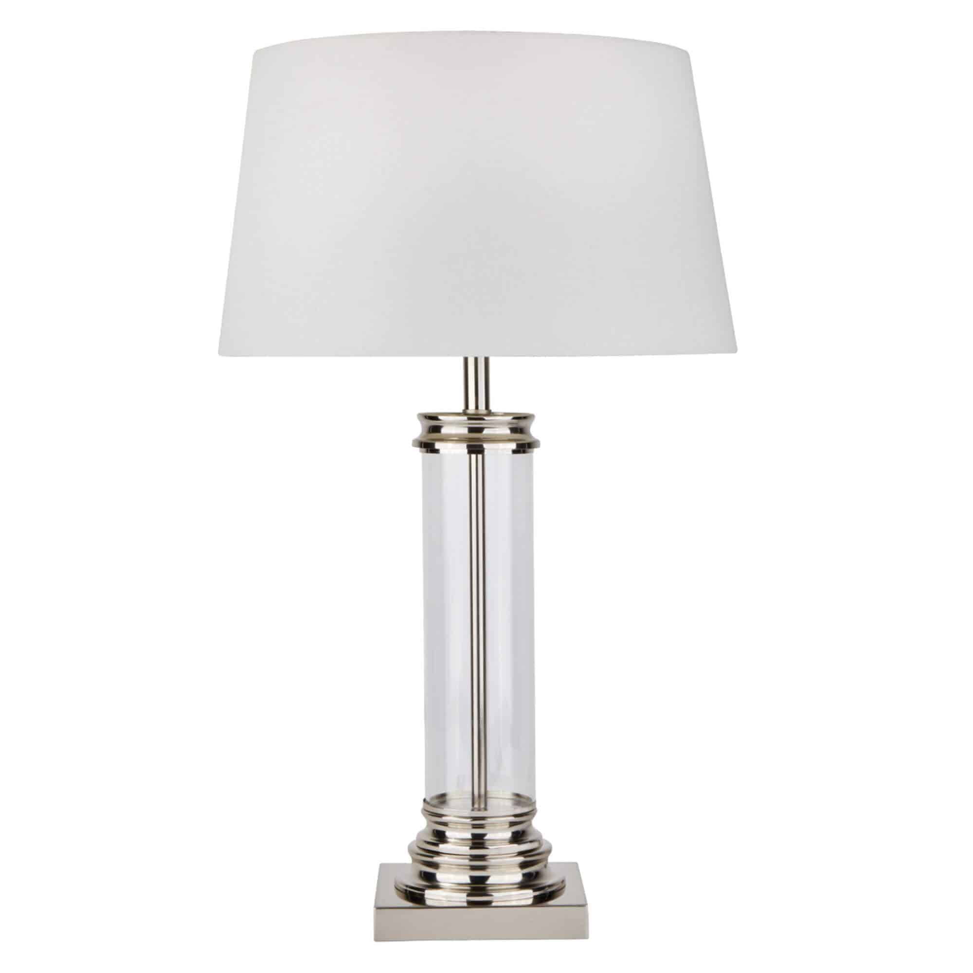 5141SS – Searchlight Pedestal Satin Silver Table Lamp