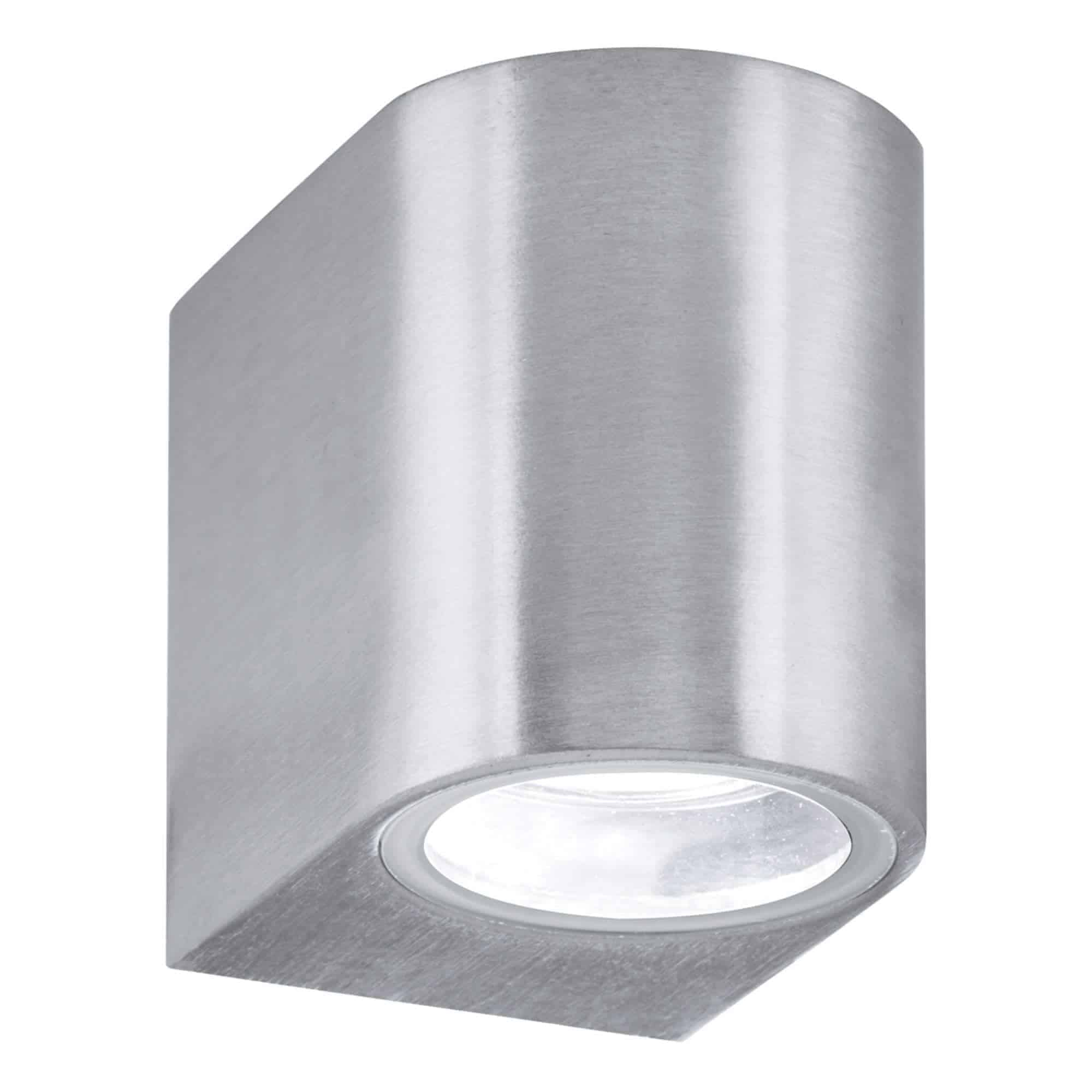 8008-1SS-LED – Searchlight LED Silver Outdoor & Porch IP44 Wall Light 1 Light