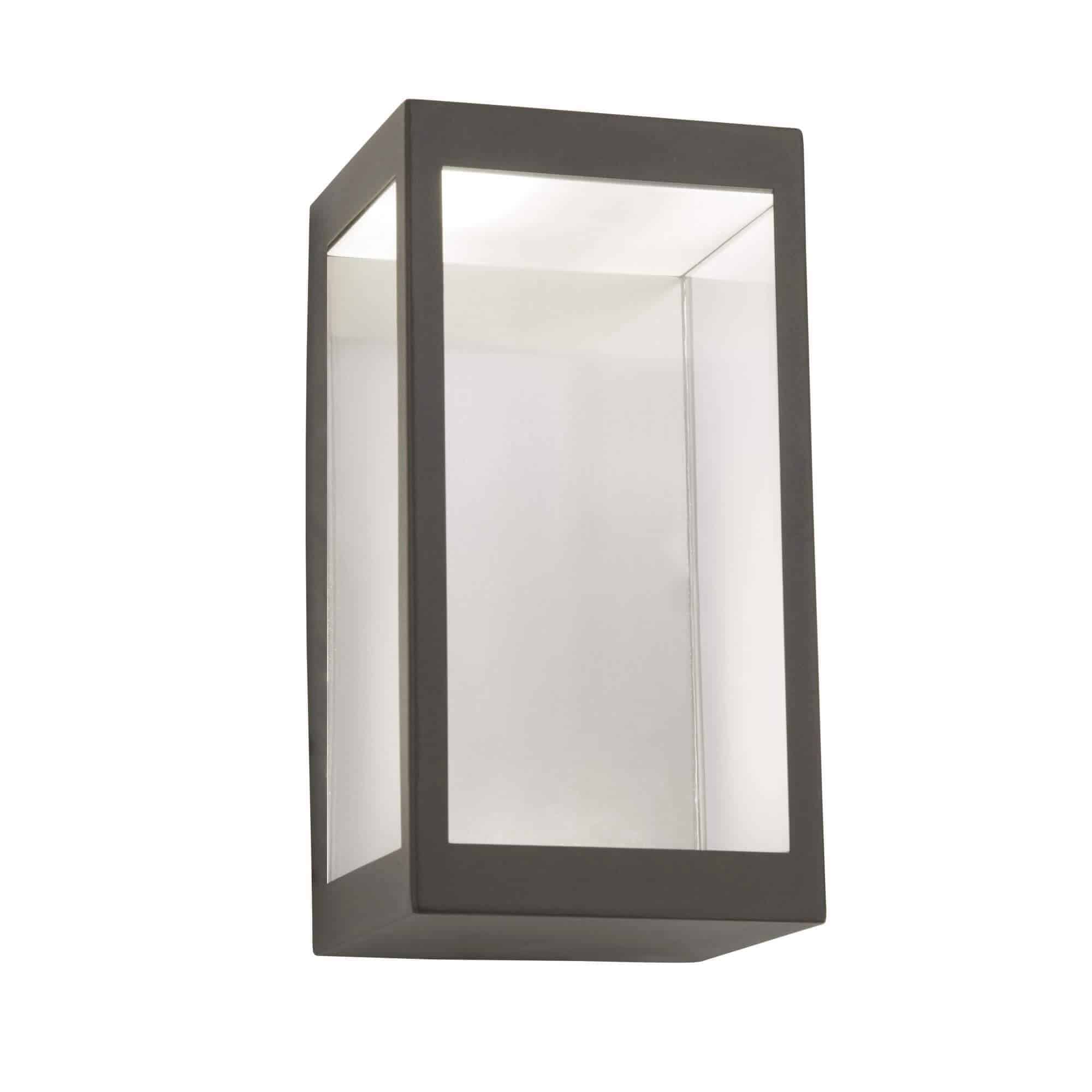 8421GY – Searchlight Box Dark Grey Outdoor LED Wall Light