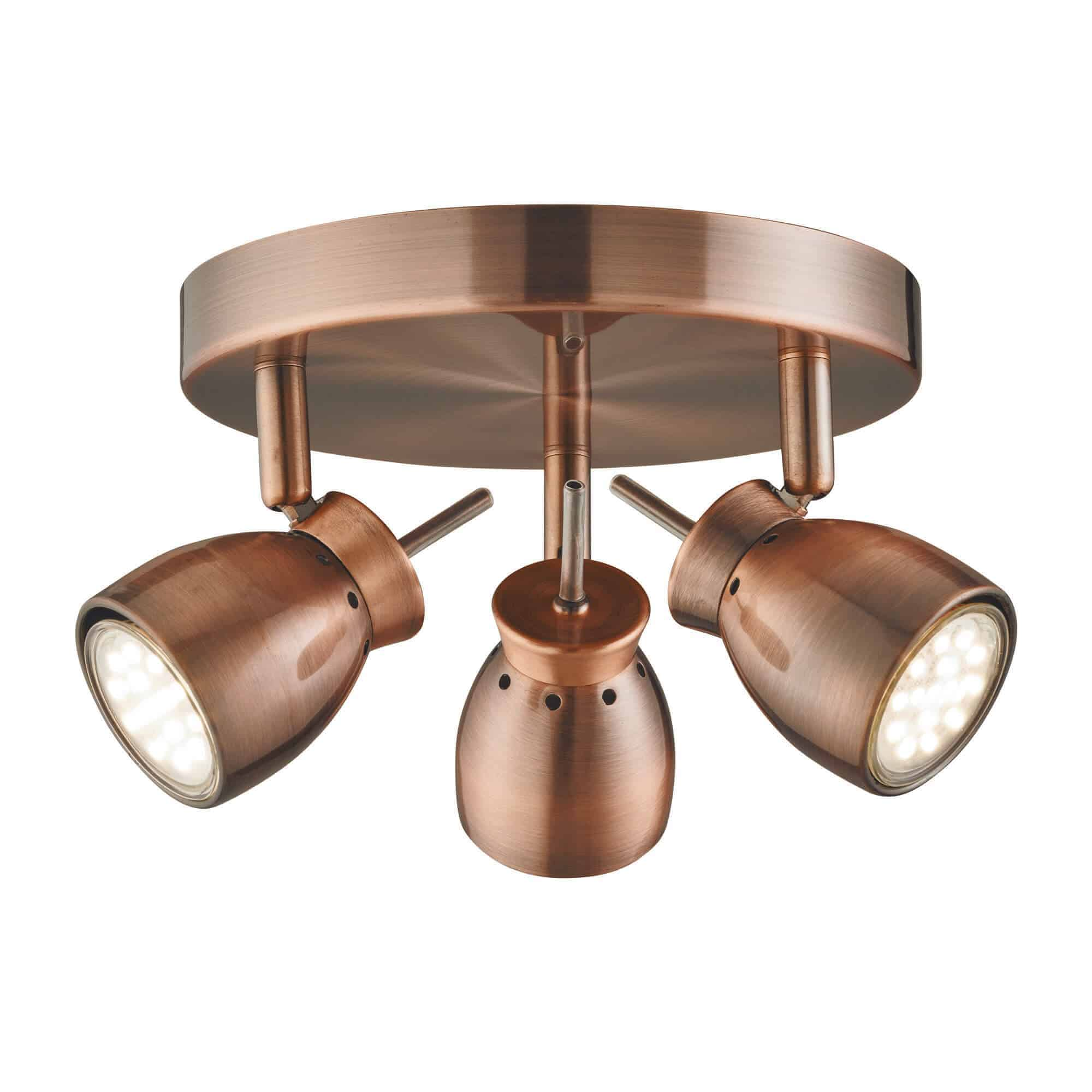 8813CU – Searchlight Jupiter Antique Copper Spotlight
