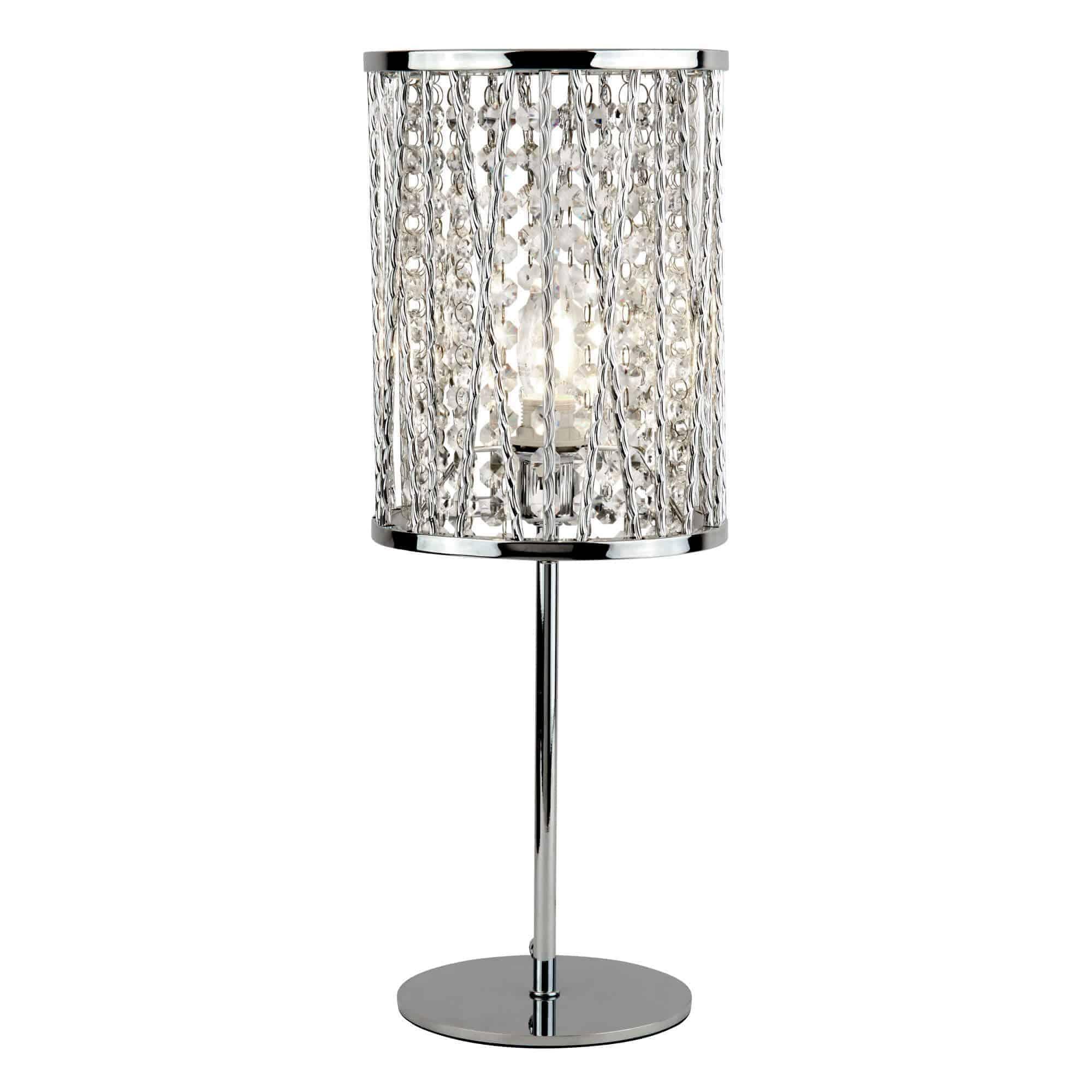 8931CC – Searchlight Elise Polished Chrome 1 Light Table Lamp