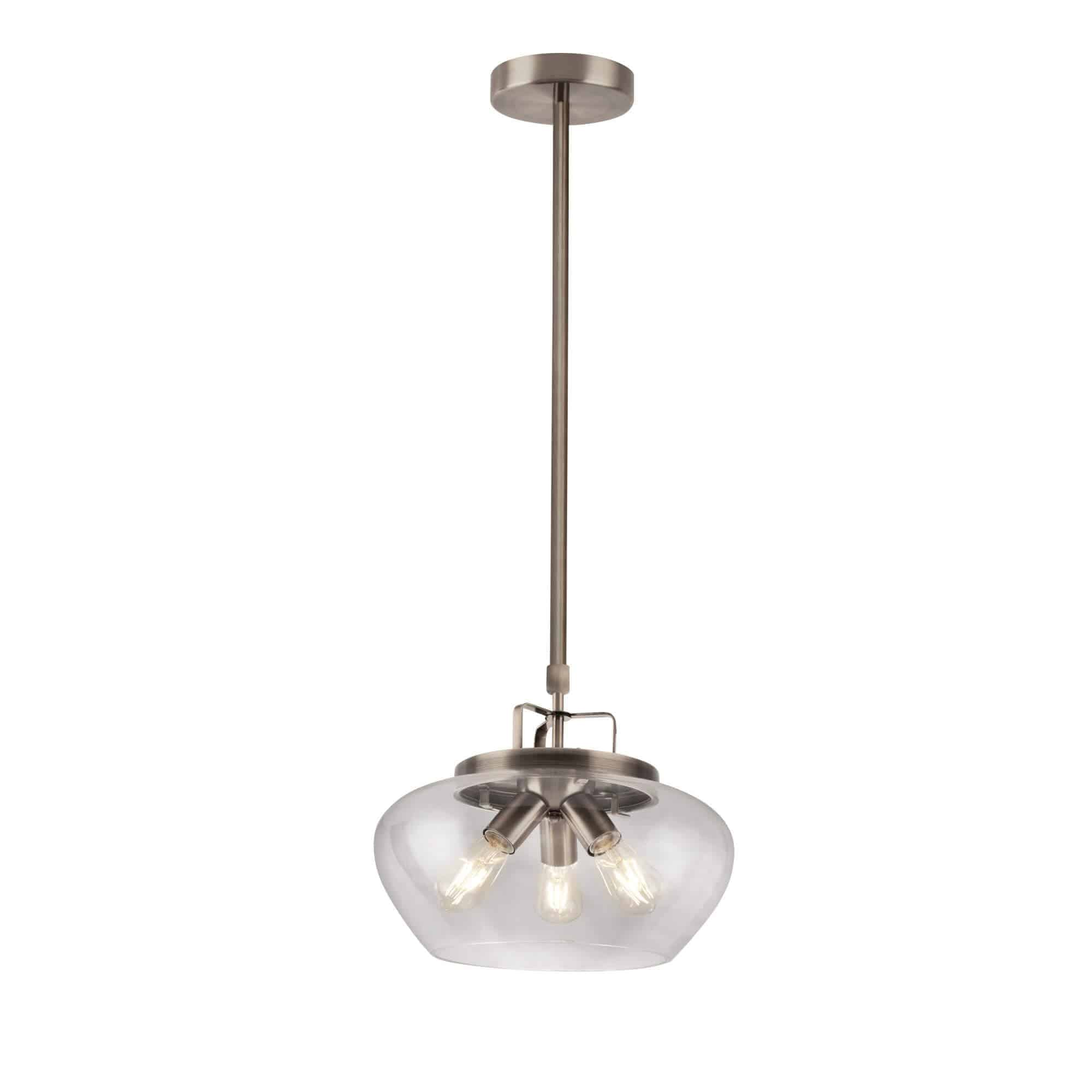 8983-3SS – Searchlight Boule Satin Silver 3 Light Pendant