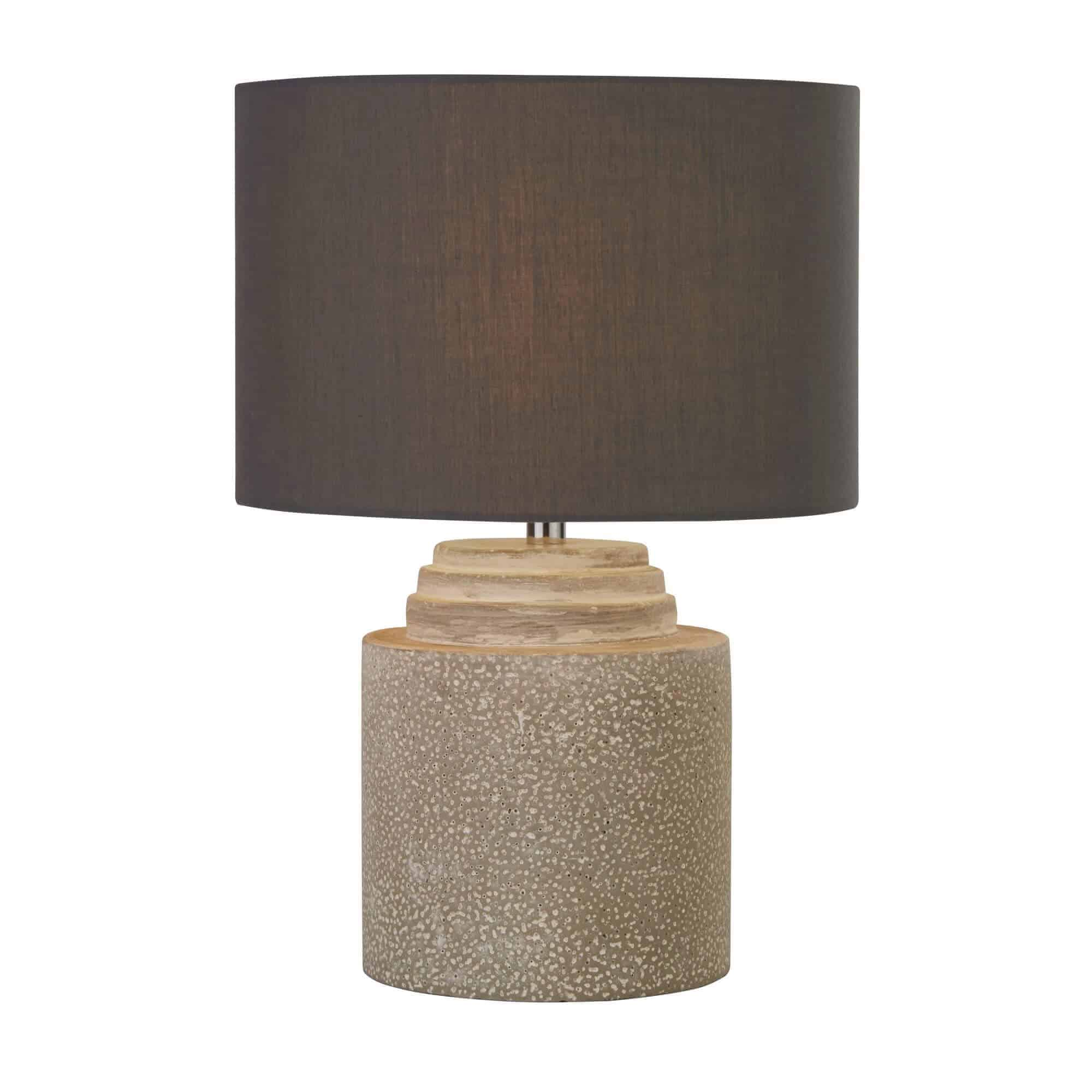 9260GY – Searchlight Zara Grey Cement Table Lamp