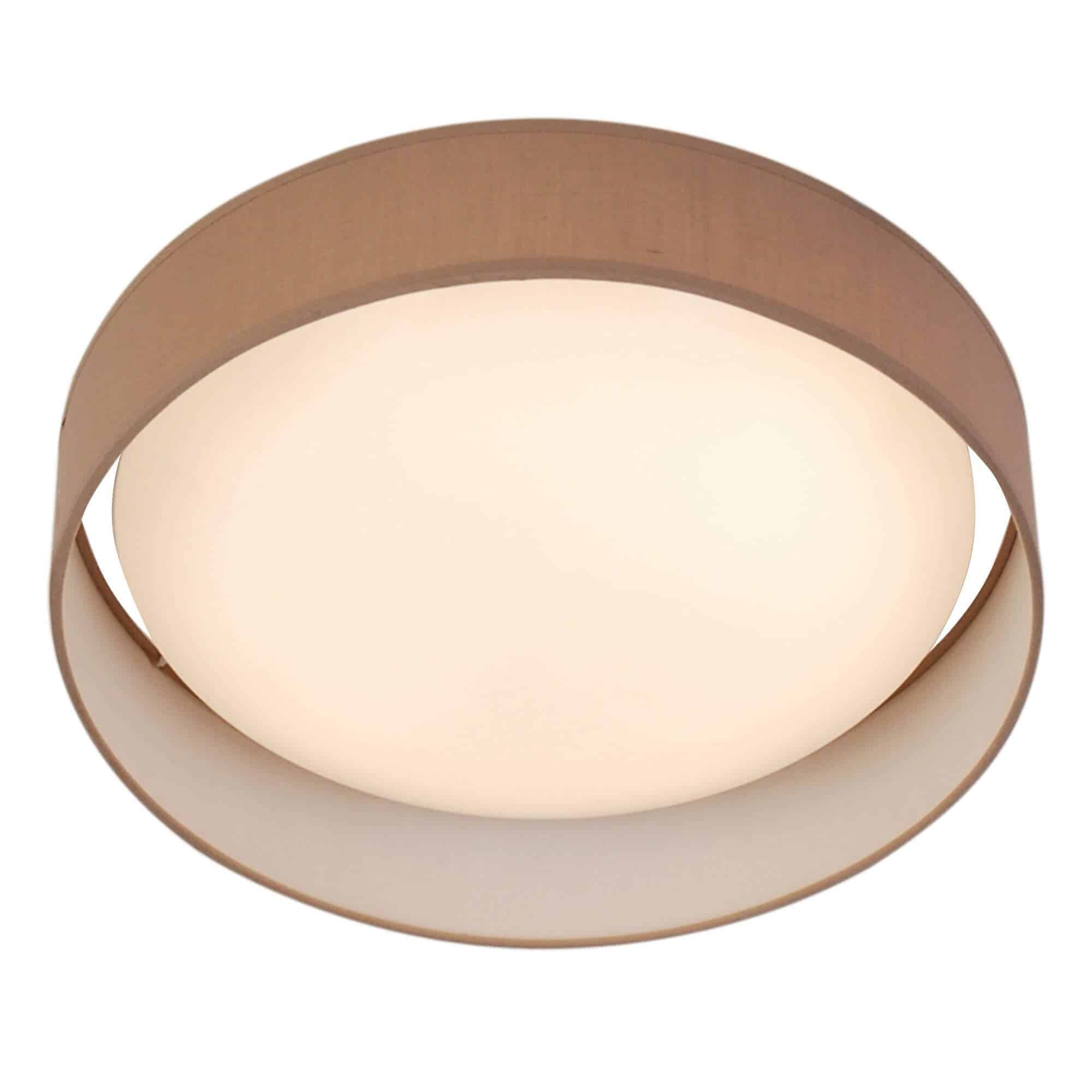 9371-37BR – Searchlight Gianna Brown 1 Light LED Flush Ceiling Light