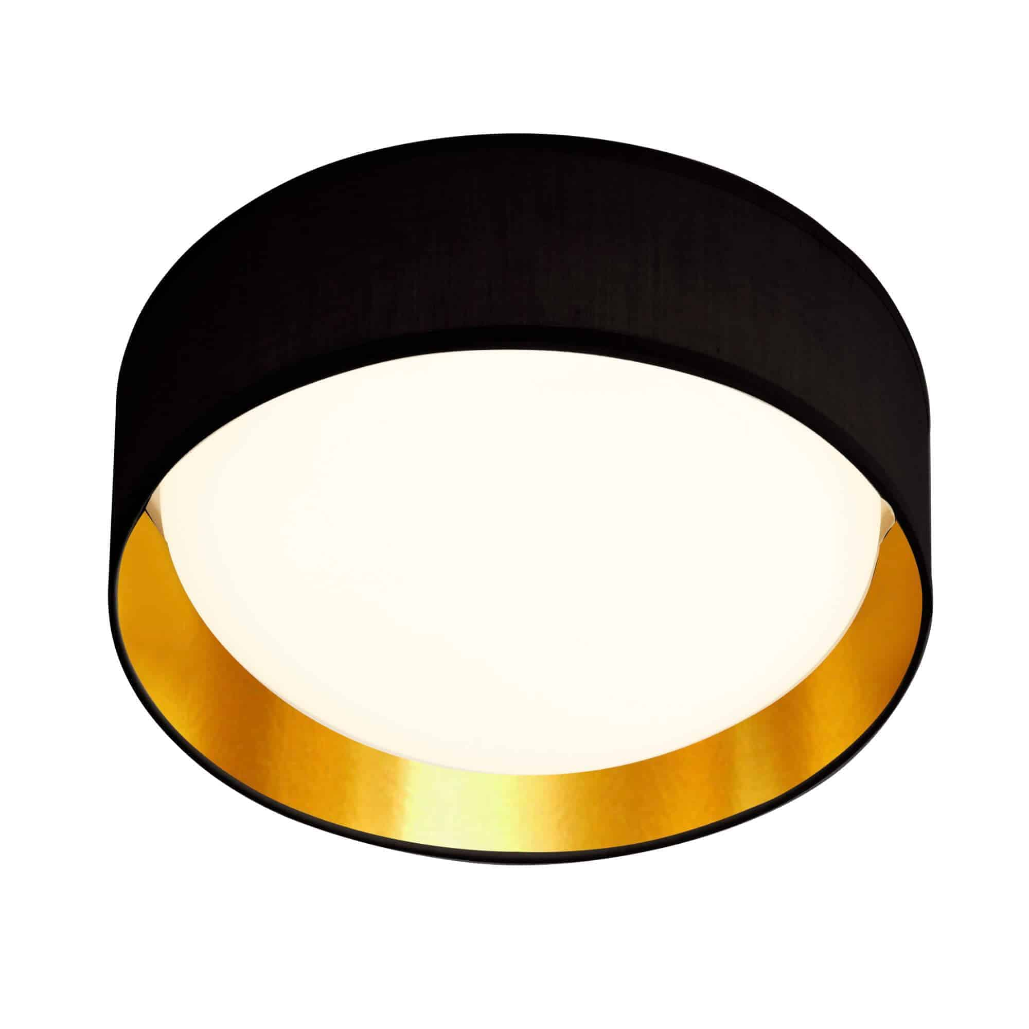 9371-50BGO – Searchlight Gianna Gold 1 Light LED Flush Ceiling Light