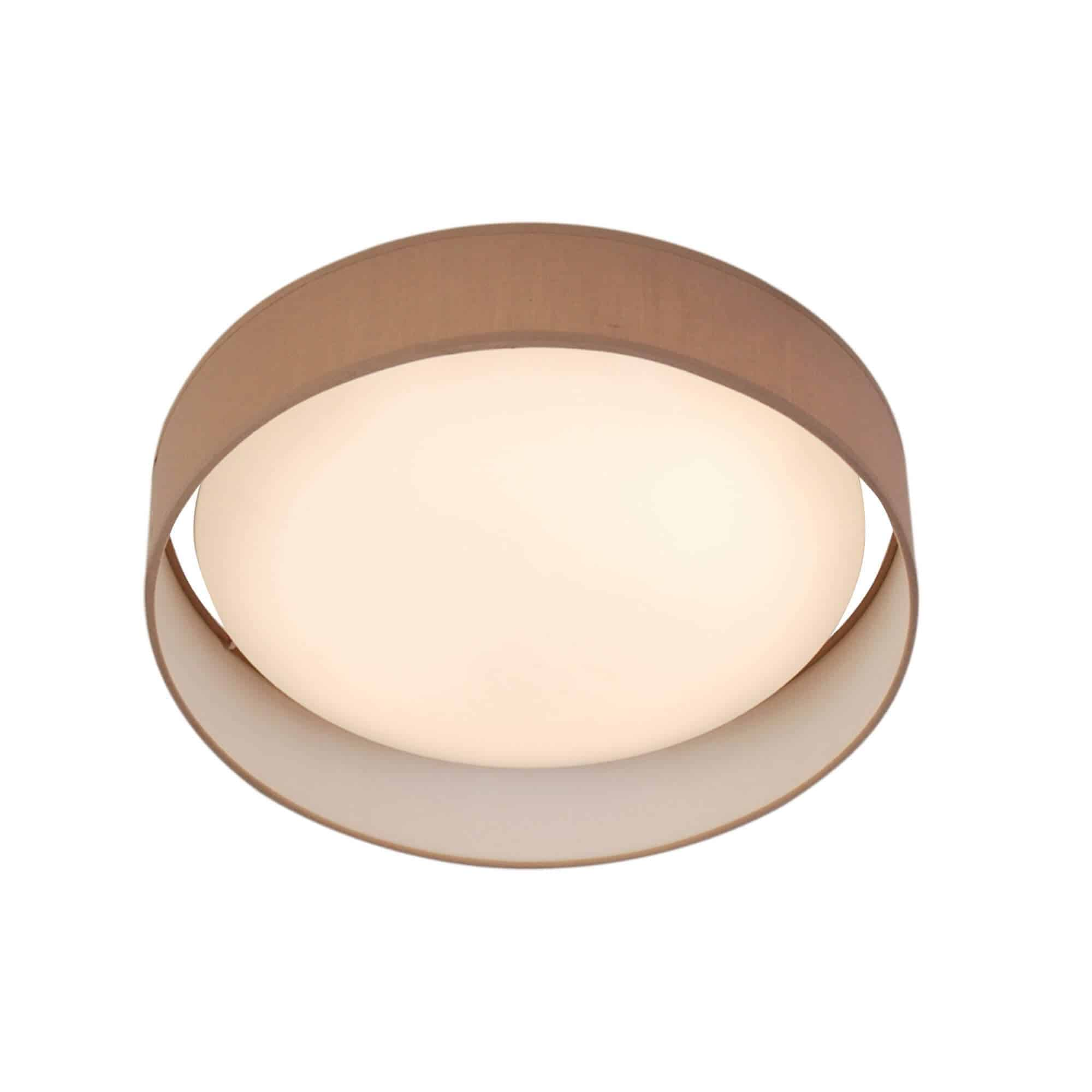 9371-50BR – Searchlight Gianna Brown 1 Light LED Flush Ceiling Light
