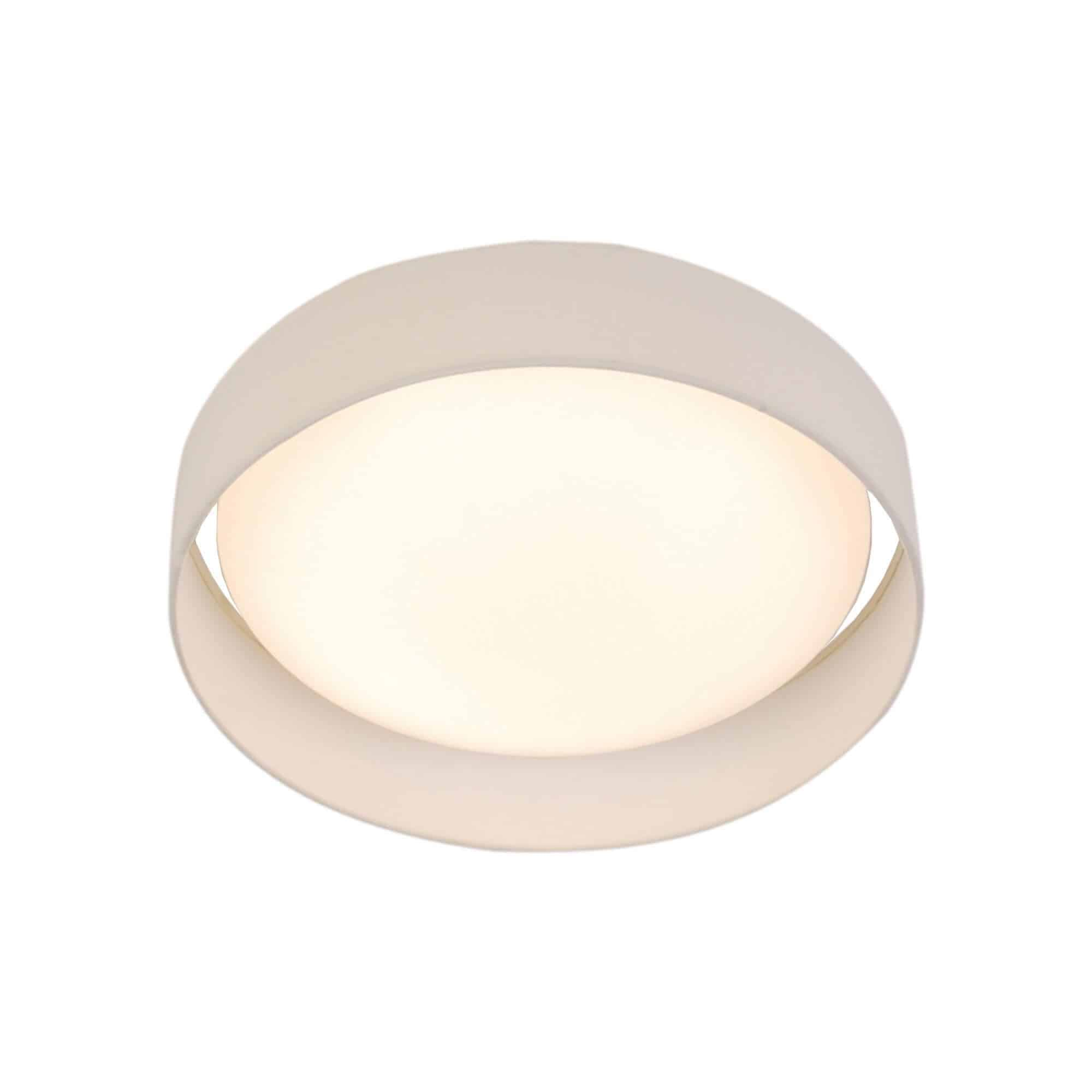 9371-50WH – Searchlight Gianna White 1 Light LED Flush Ceiling Light