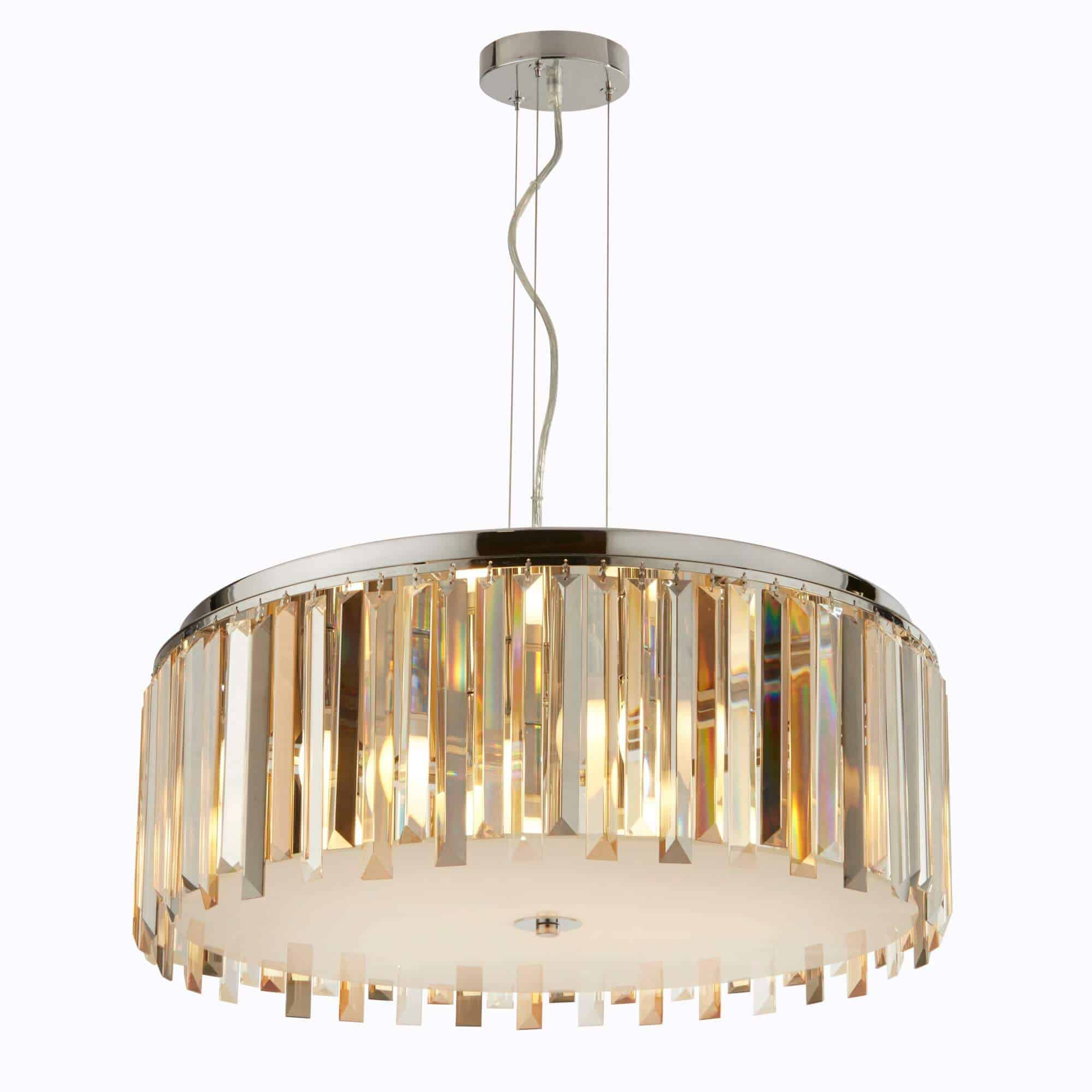 9835-5CC – Searchlight Clarissa 5 Light Polished Chrome Pendant
