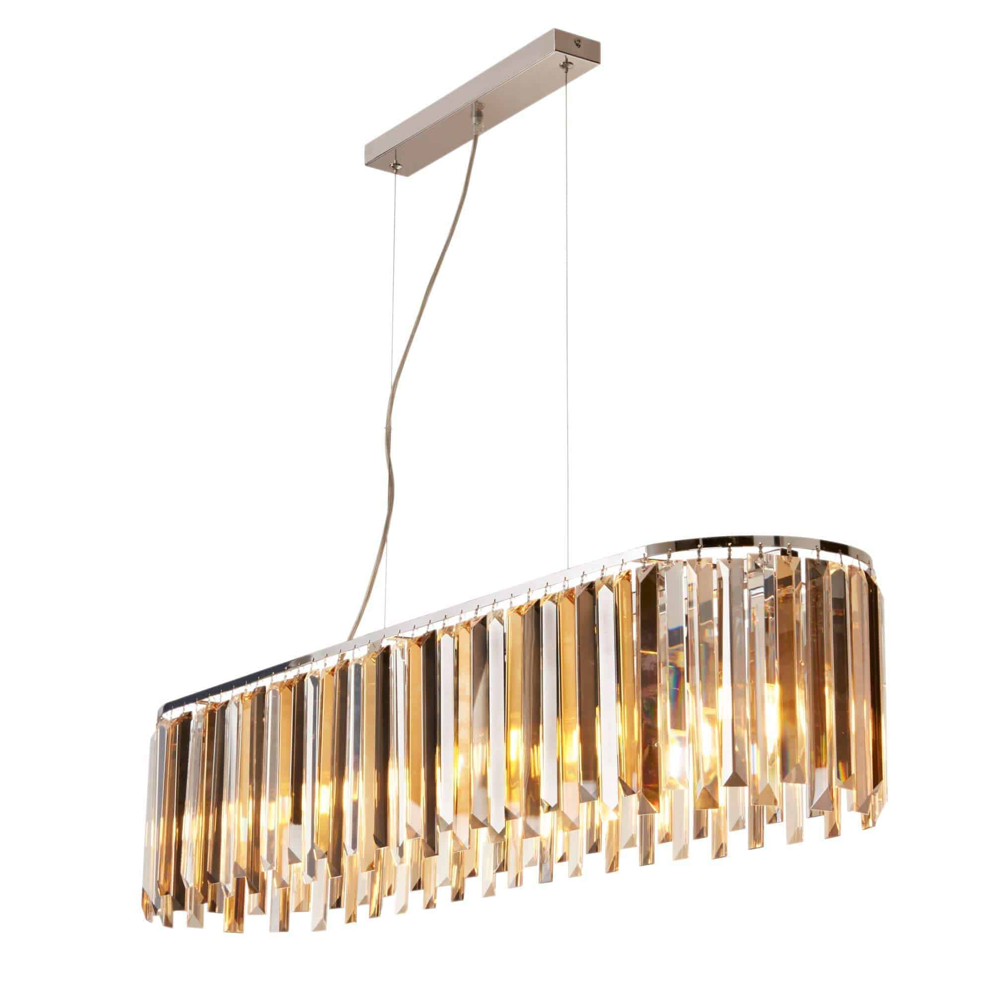 9838-8CC – Searchlight Clarissa 8 Light Polished Chrome Pendant Bar