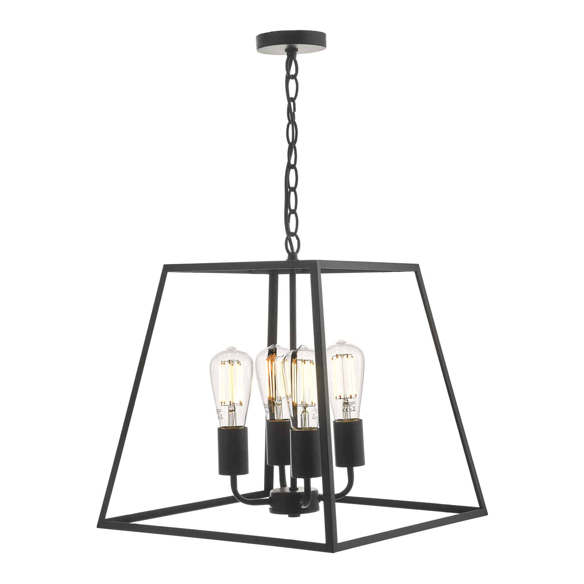 Dar ACA8622 Academy 4 Light Lantern Black