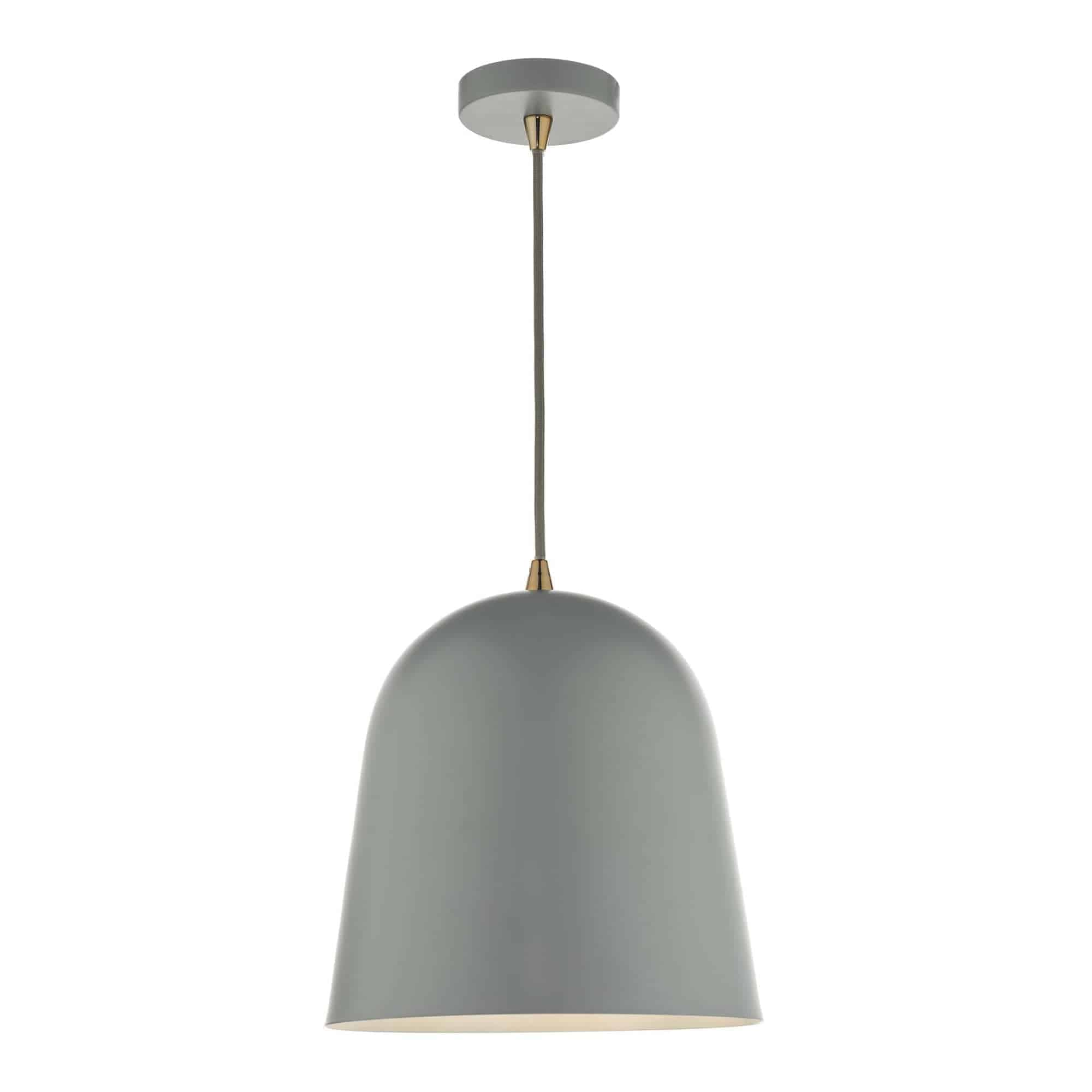 Dar BAJ0139 Baja 1 Light Pendant Small Grey