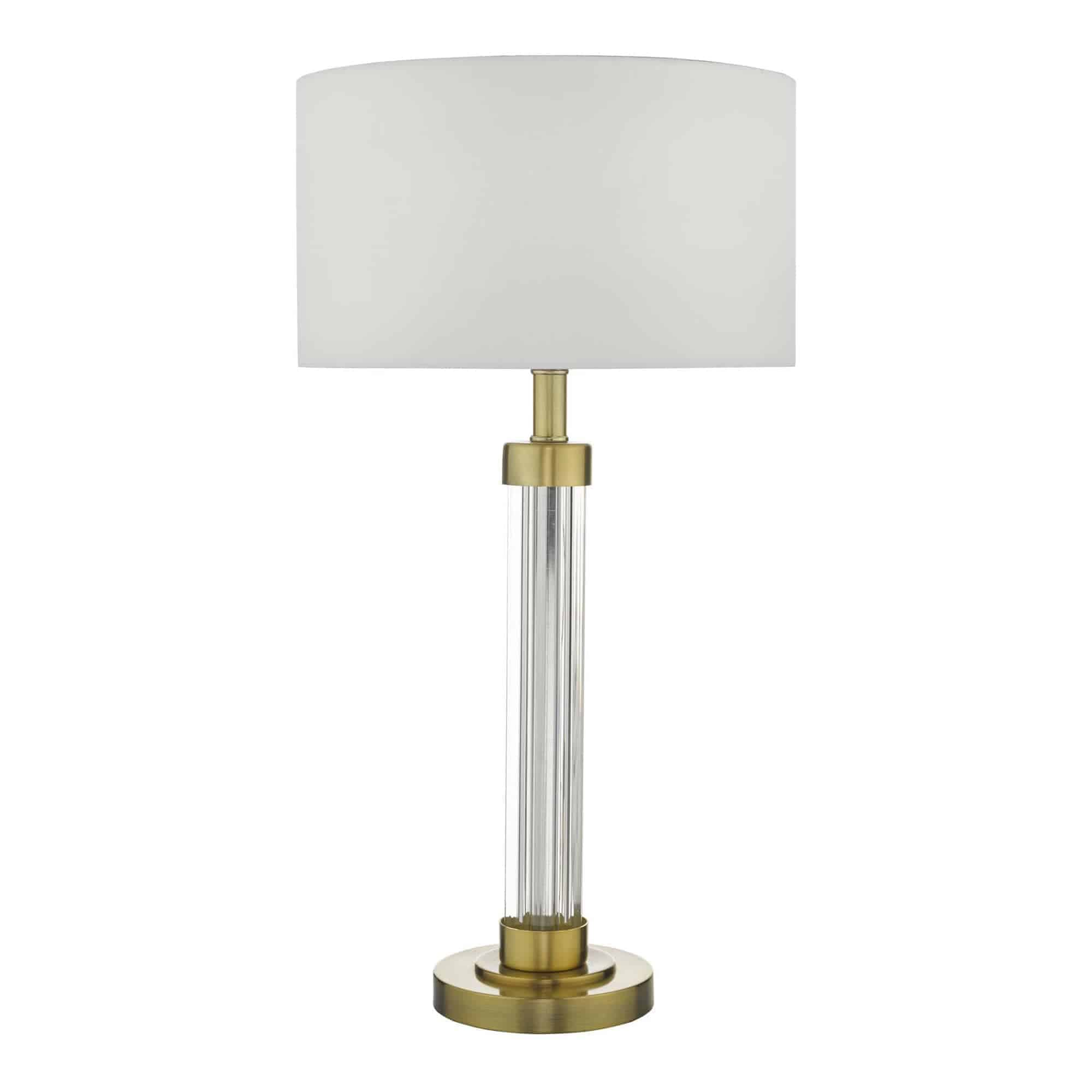 Dar HEI4263 Heitor Table Lamp Bronze & Glass Base Only