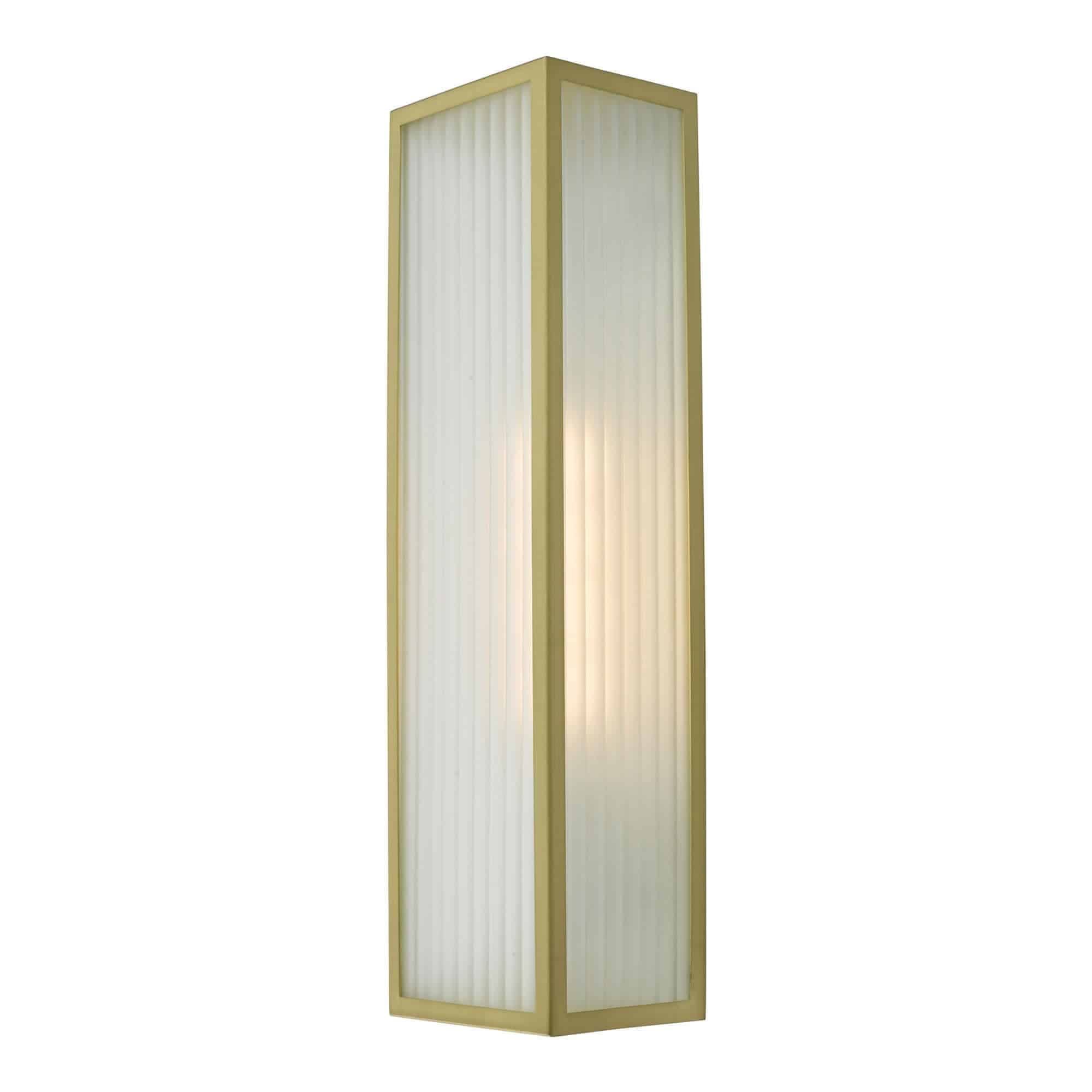 Dar KEE5041 Keegan 1 Light Wall Light Satin Brass IP44