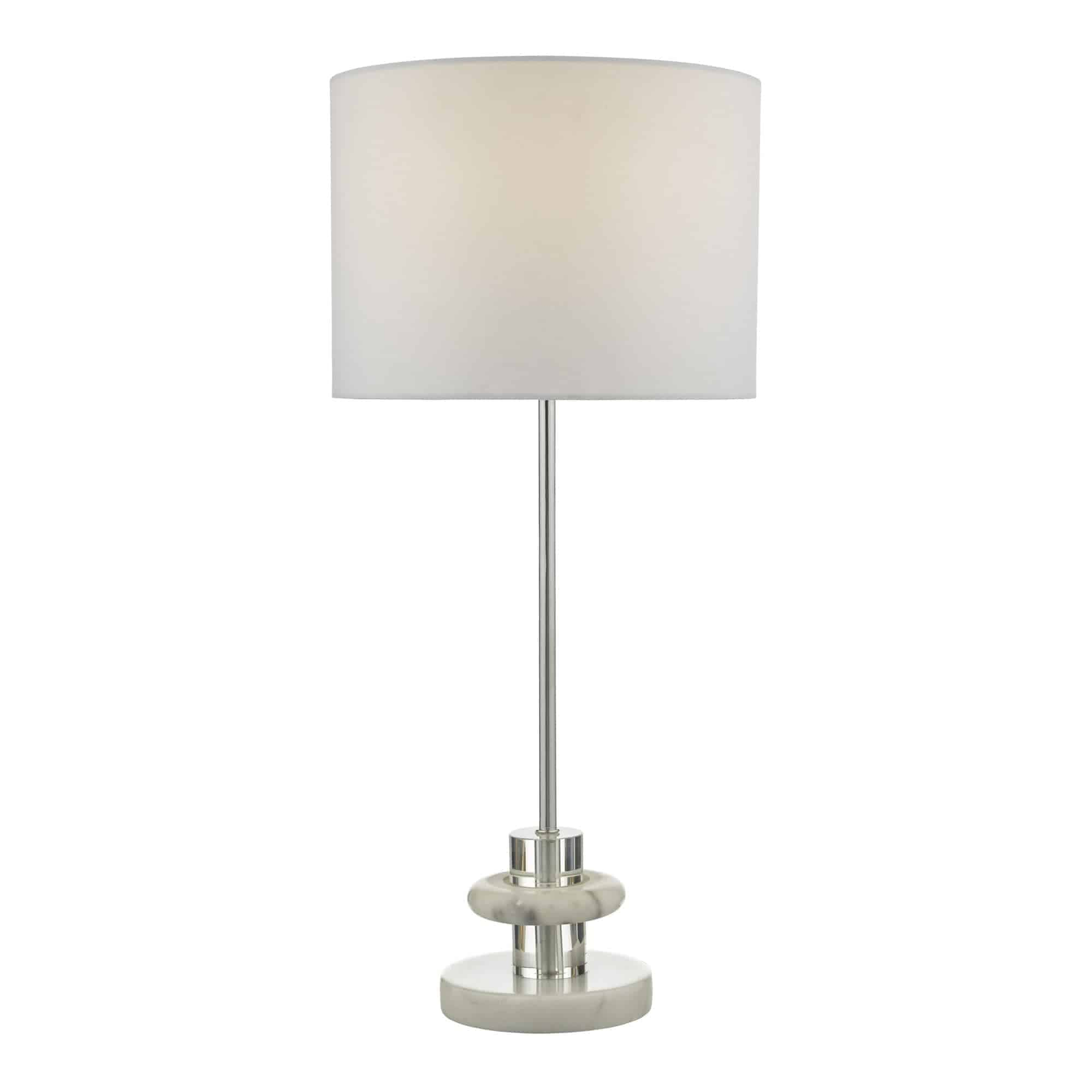 Dar LYD4250 Lydian Table Lamp Crystal & Marble With Shade