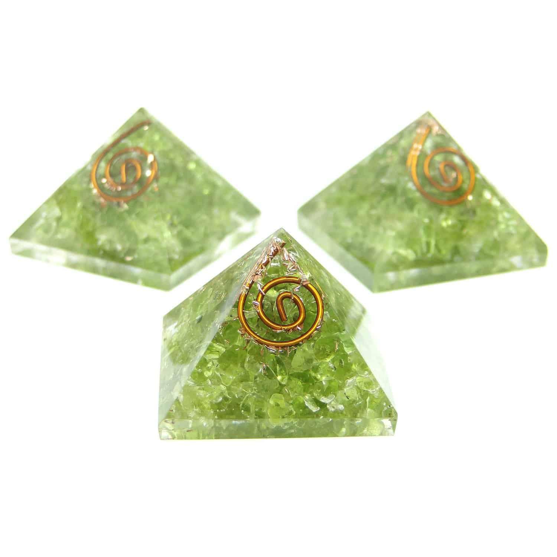 Peridot Orgone Pyramid Nature's Crest OPY010 ₹299.00