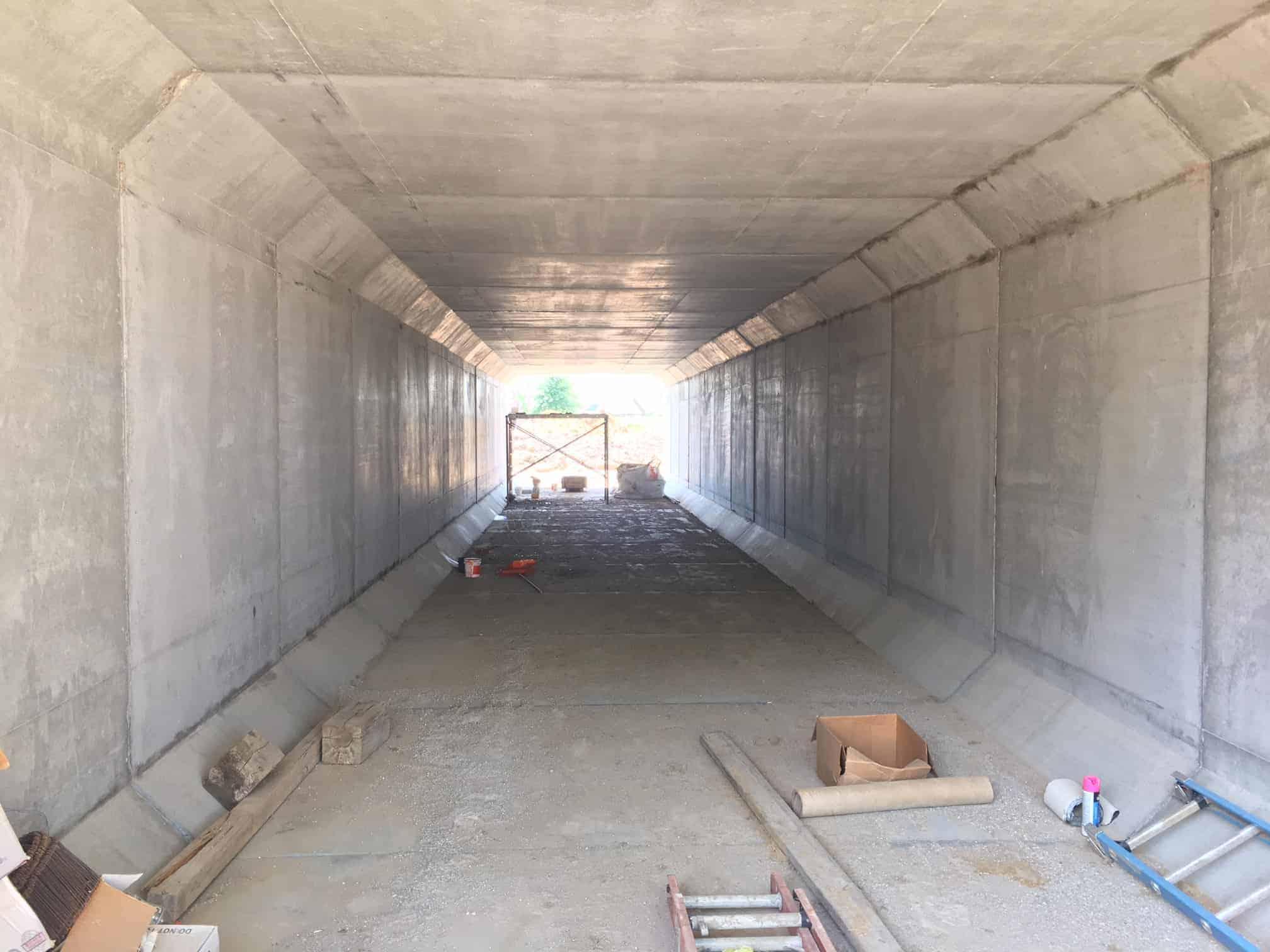 Box Culvert Pedestrian Underpass by Wieser Concrete