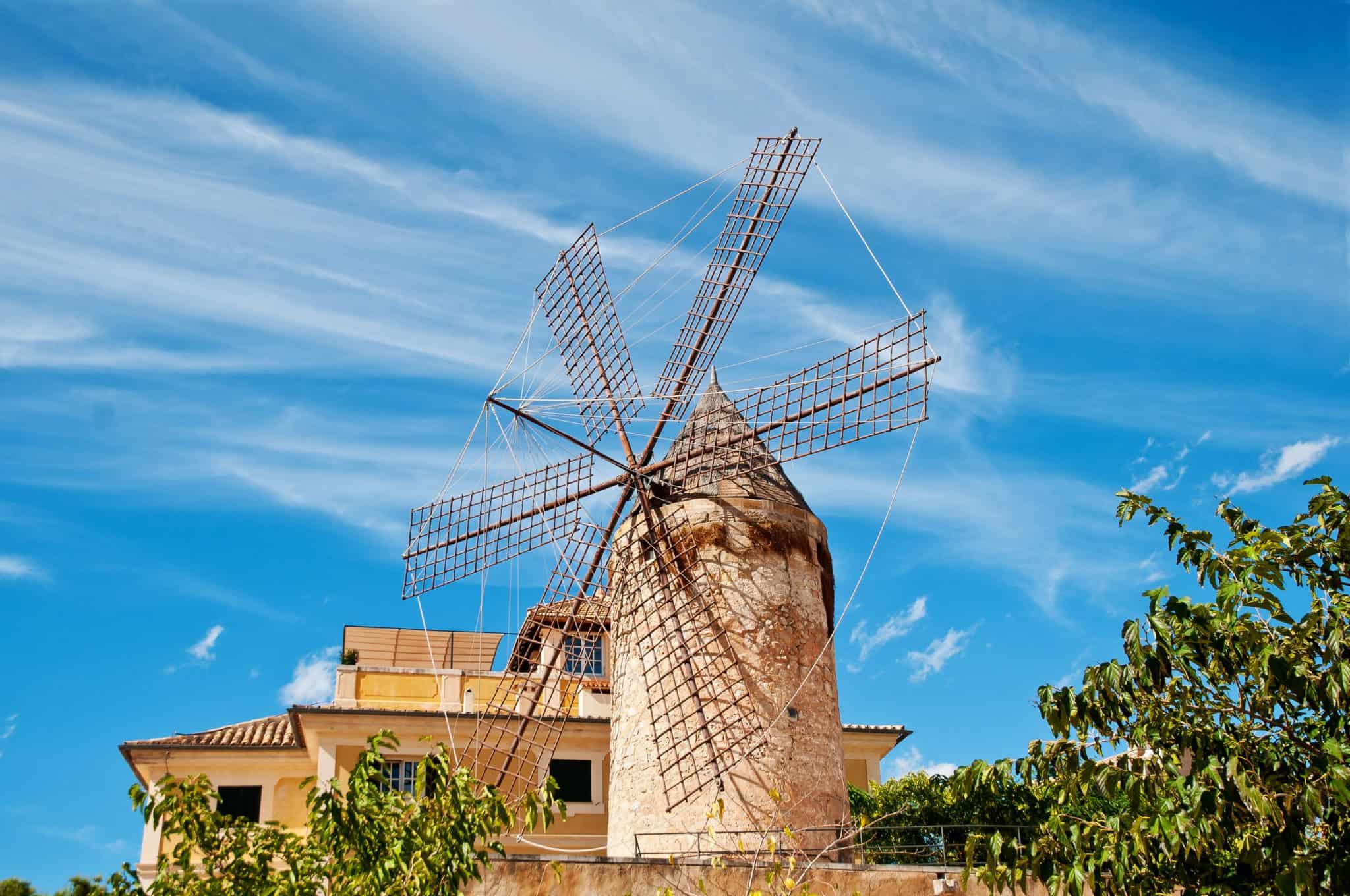 Mallorquinische Windmühle auf Mallorca