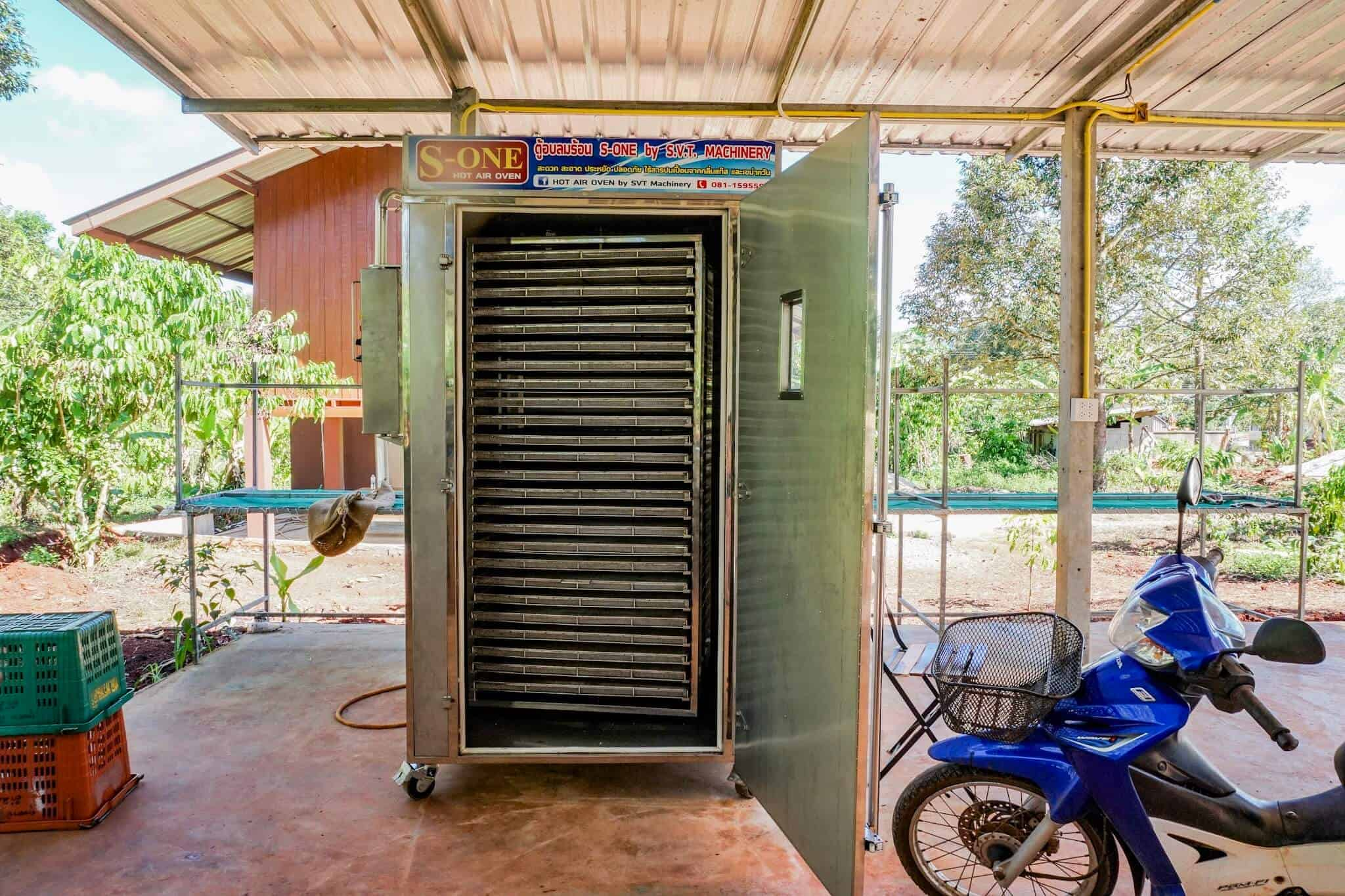 Dryer at a coffee plantation in Chumphon