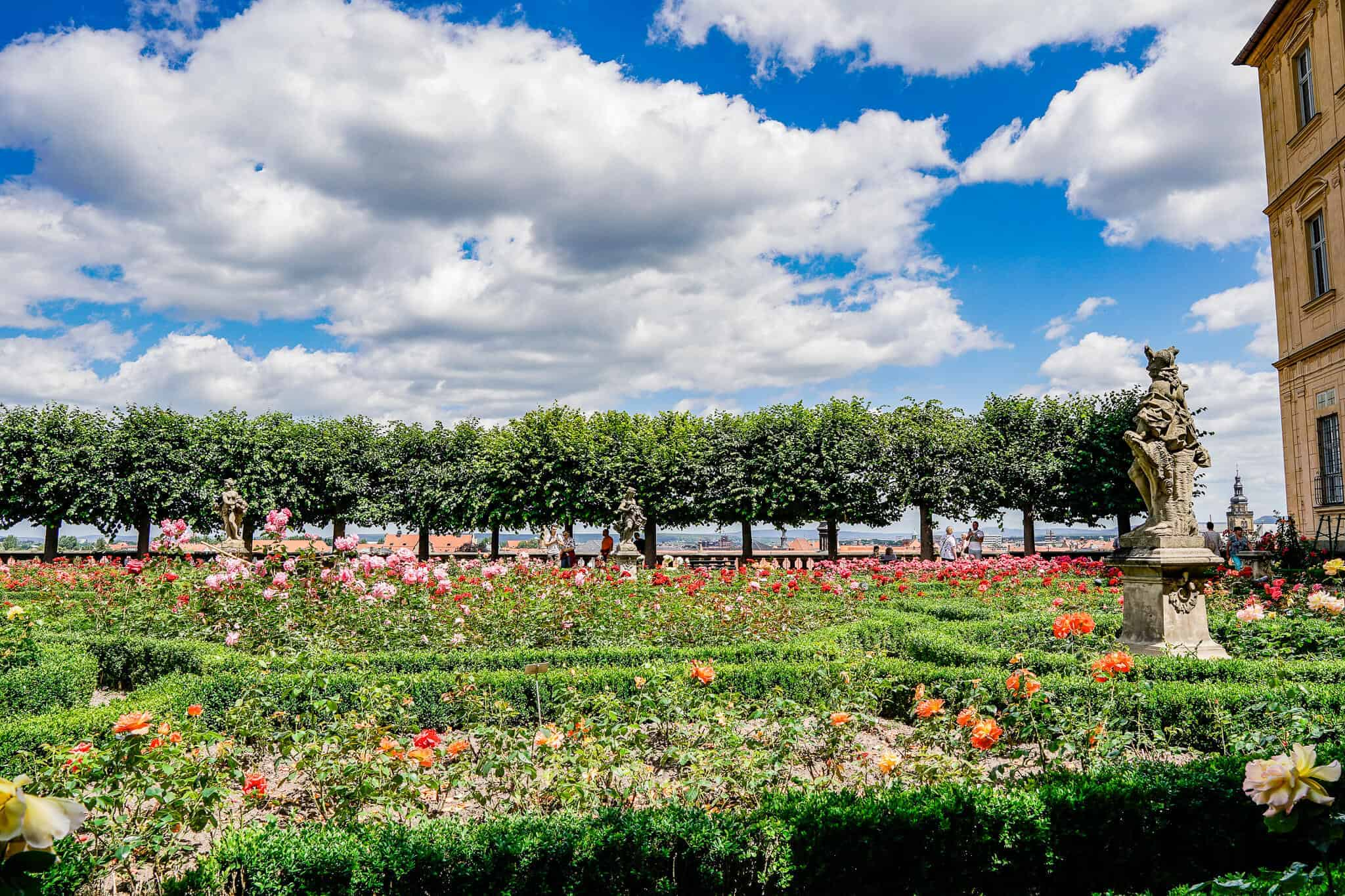 Things to do in Bamberg – Rose Garden in the Neue Residenz