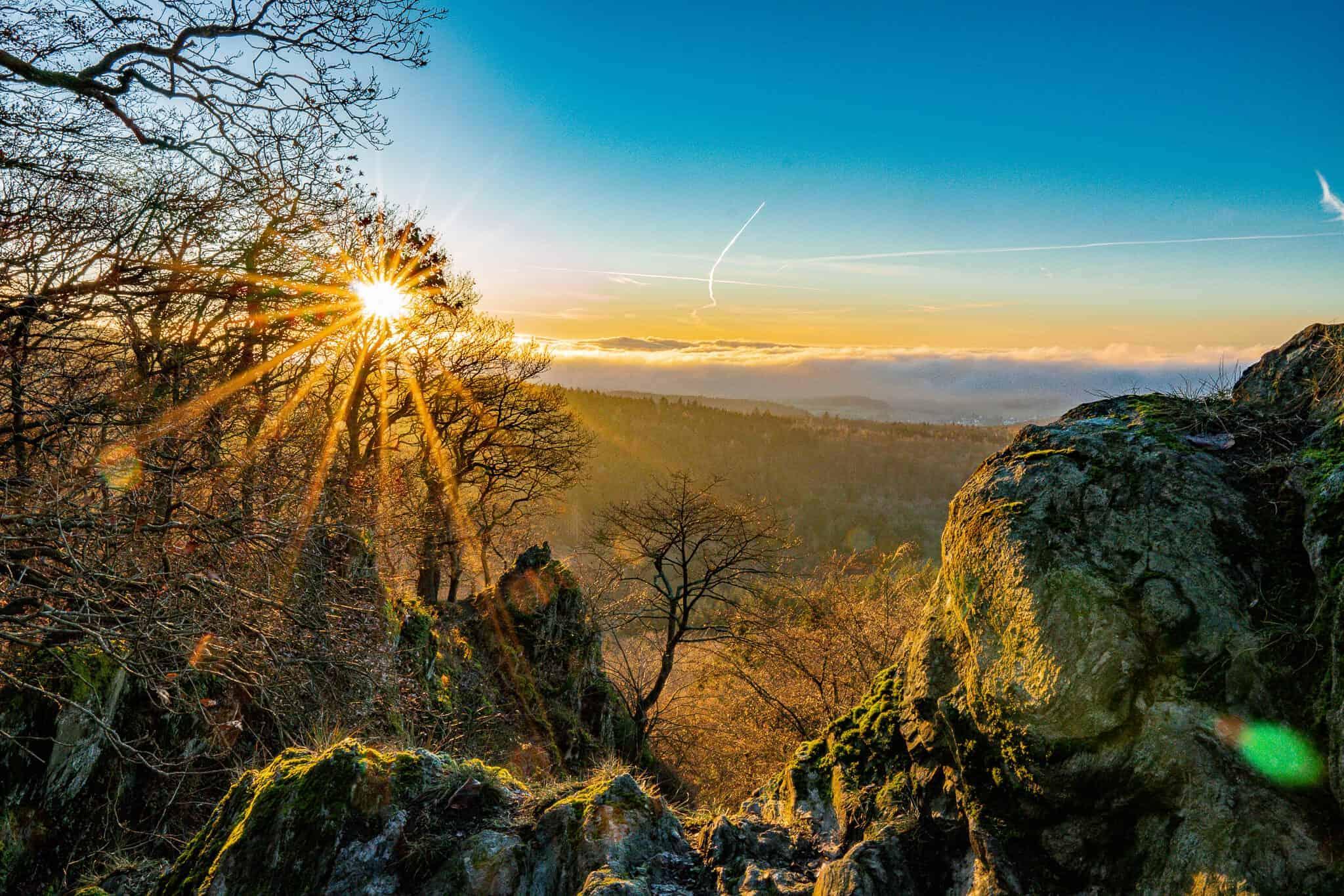 Zacken Sonnenuntergang