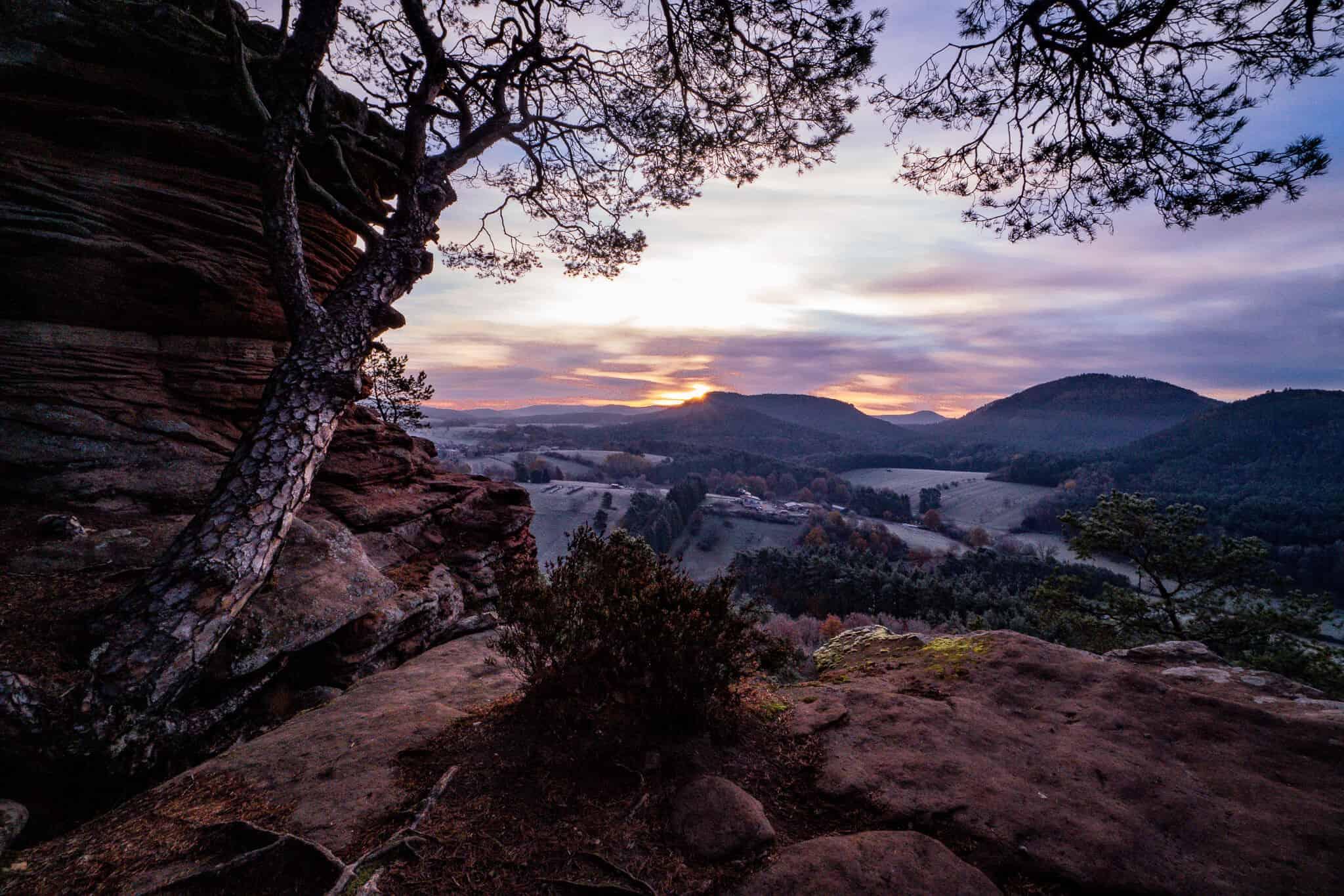 Sprinzelfelsen Sonnenaufgang